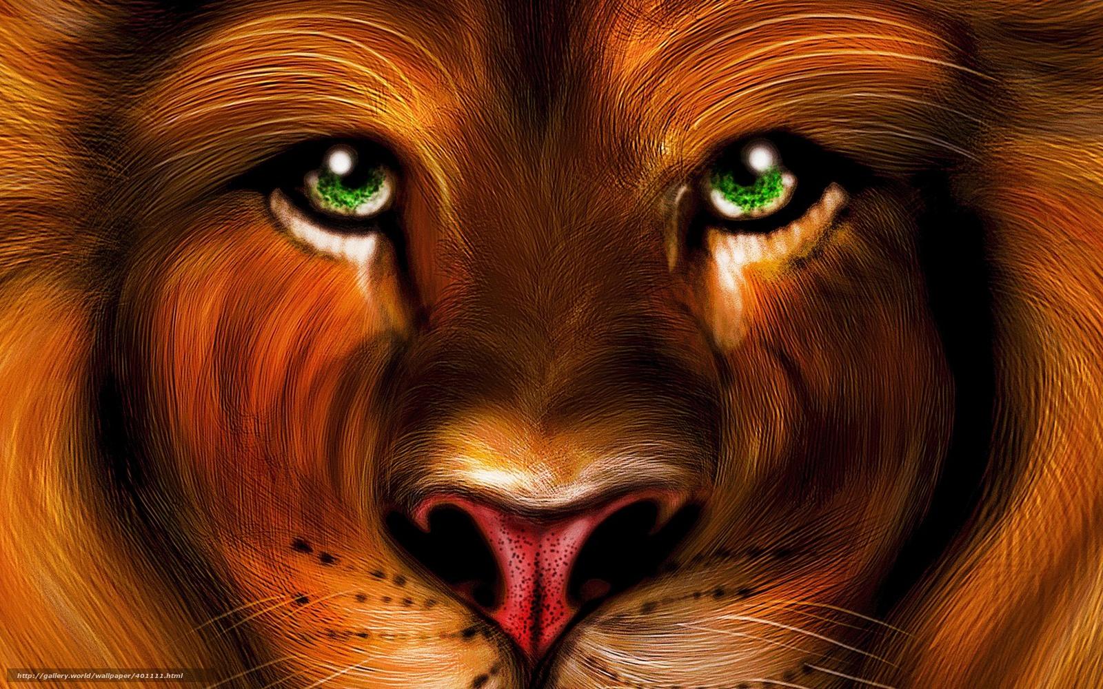 Scaricare gli sfondi leone vista pittura carta da for Sfondi leone