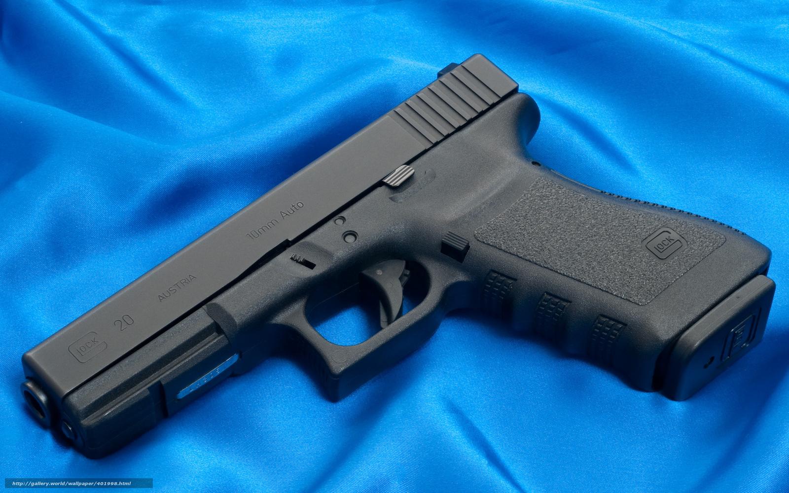 Download wallpaper Glock, gun, weapon
