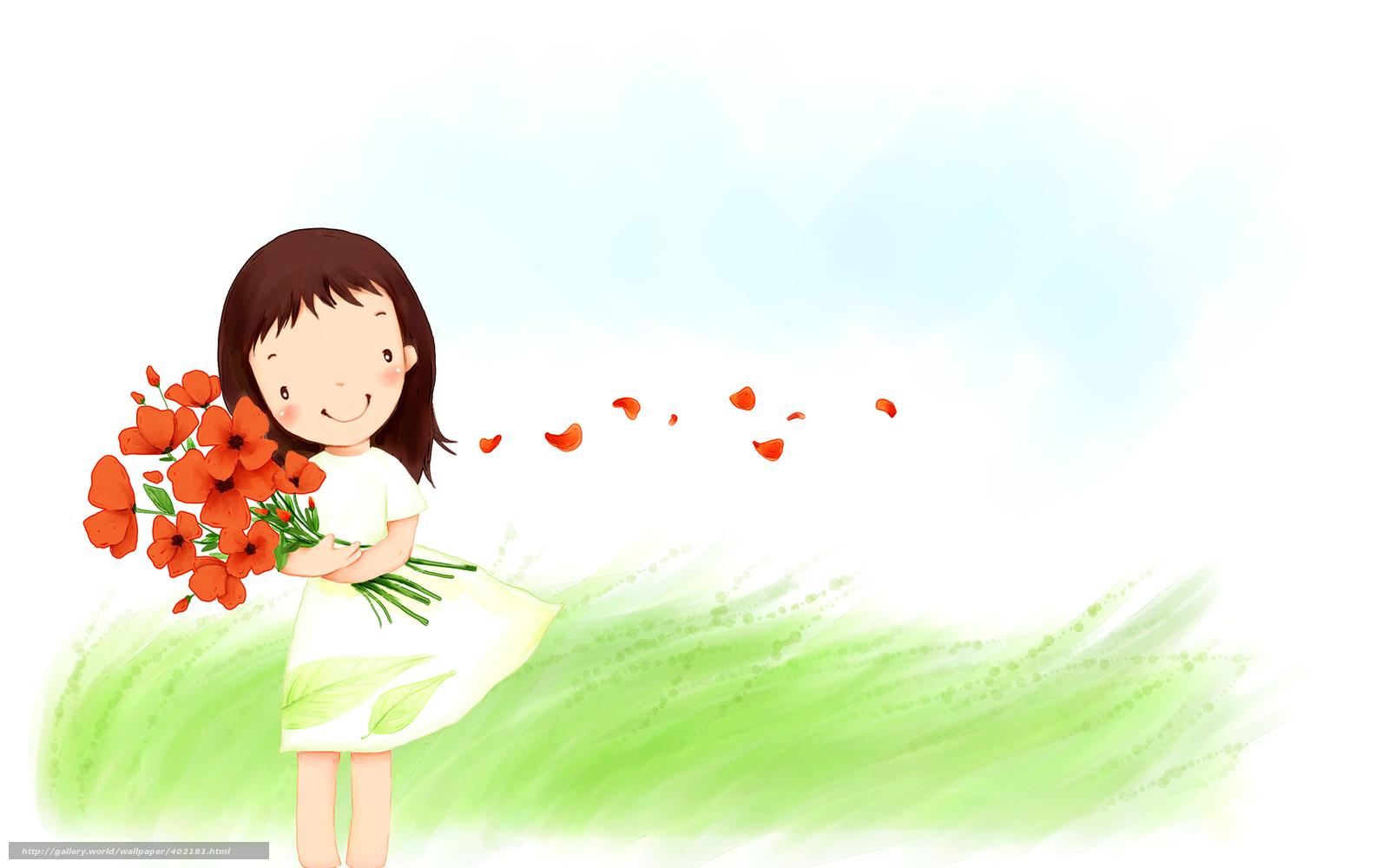 tlcharger fond d 39 ecran enfants papier peint fille bouquet fleurs fonds d 39 ecran gratuits pour. Black Bedroom Furniture Sets. Home Design Ideas
