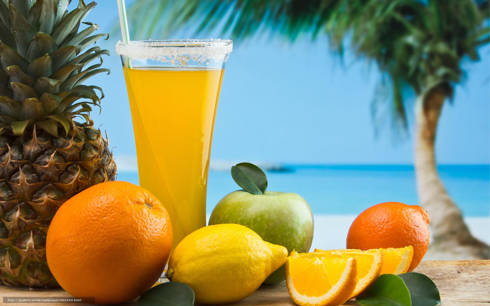 Download wallpaper goblet,  juice,  tubule,  fruit free desktop wallpaper in the resolution 1680x1050 — picture №402334