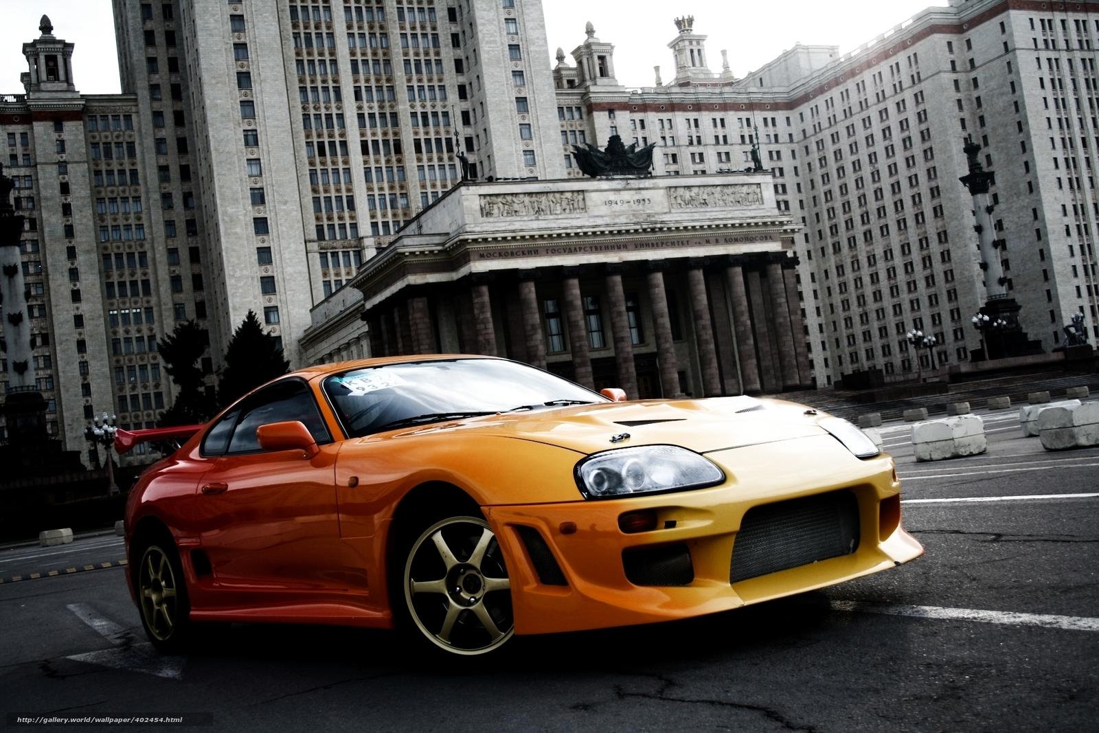 tlcharger fond d 39 ecran toyota supra voiture de sport orange fonds d 39 ecran gratuits pour votre. Black Bedroom Furniture Sets. Home Design Ideas
