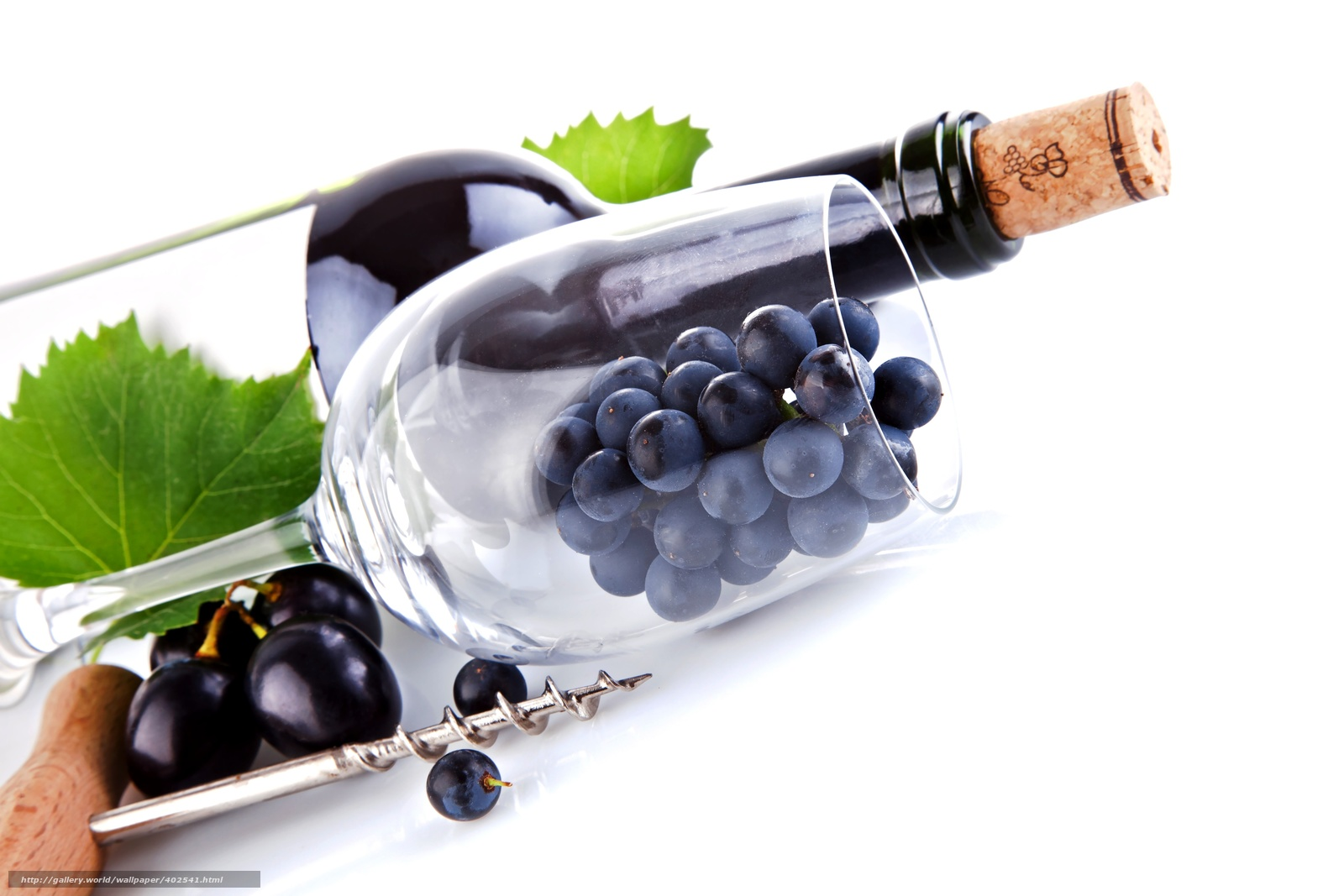 Download wallpaper grapes,  goblet,  bottle,  cork free desktop wallpaper in the resolution 5616x3744 — picture №402541