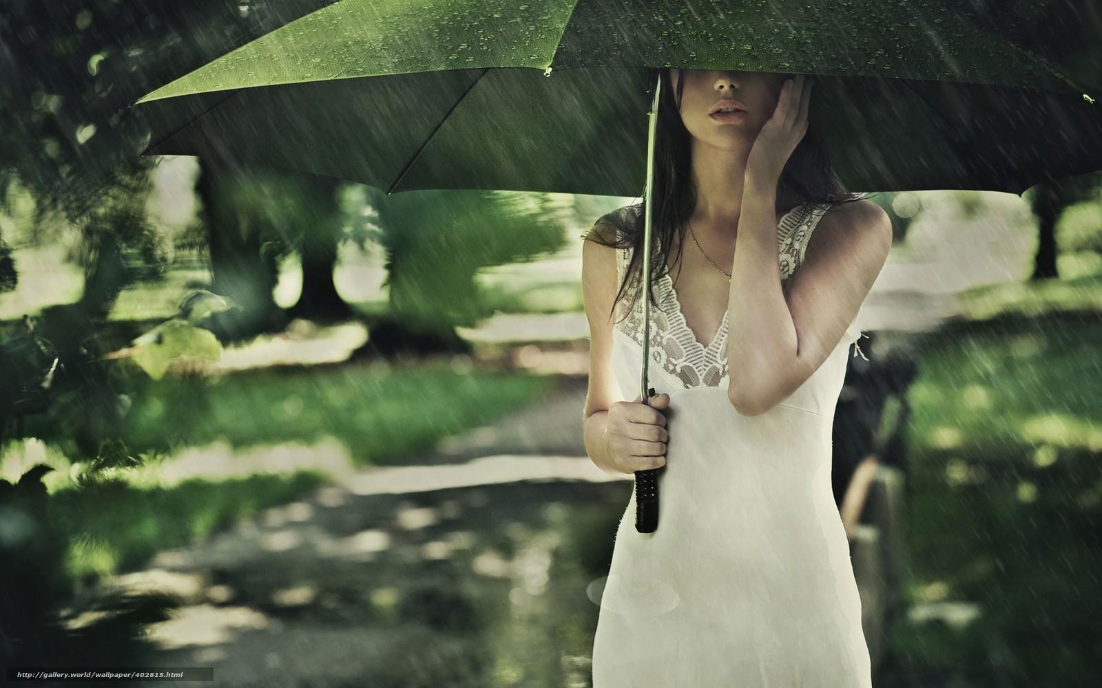 Tlcharger Fond d'ecran fille,  t,  parapluie,  pluie Fonds d'ecran gratuits pour votre rsolution du bureau 1920x1200 — image №402815