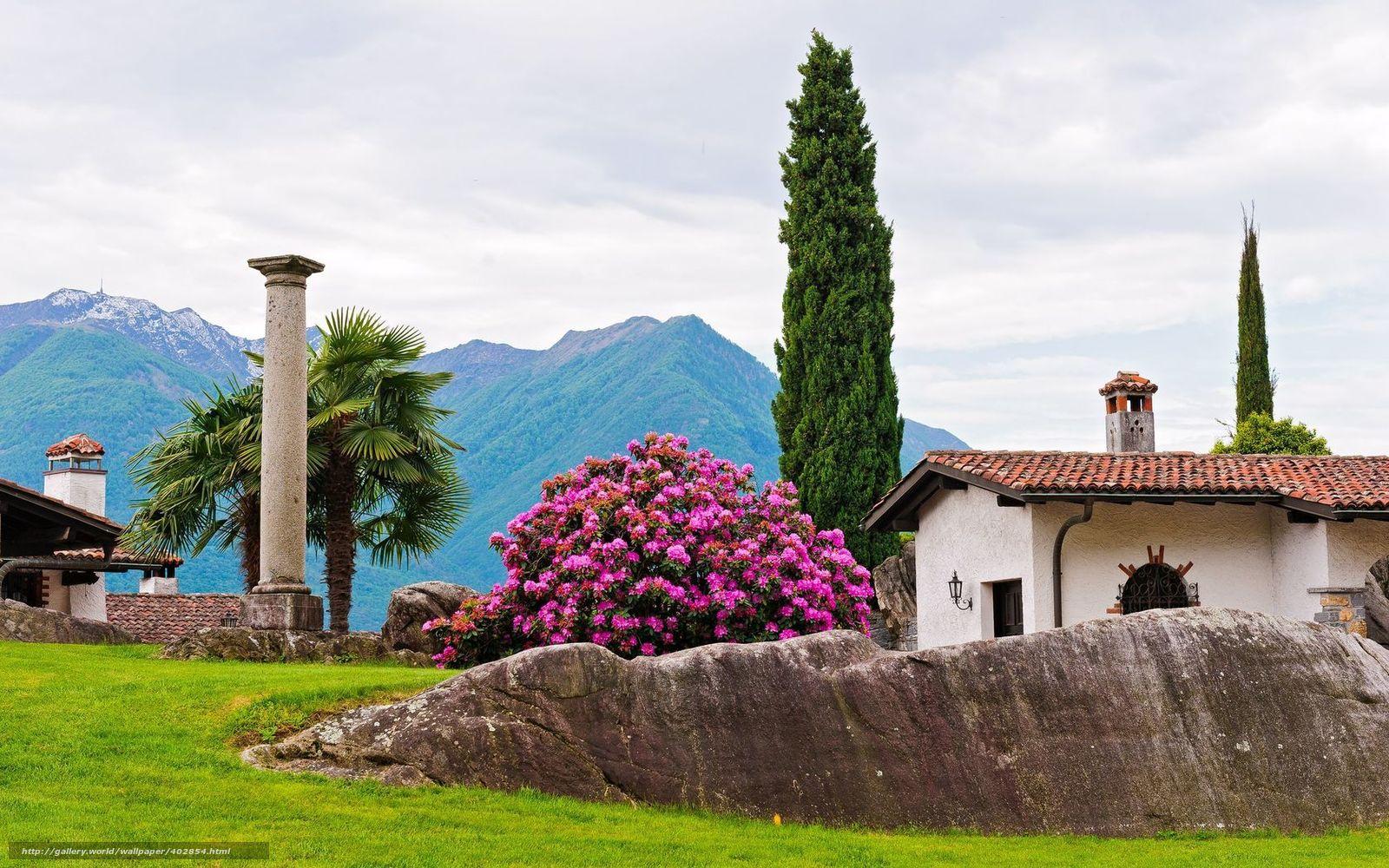 pobra tapety park,  dom,  drzew,  kolumna Darmowe tapety na pulpit rozdzielczoci 1680x1050 — zdjcie №402854