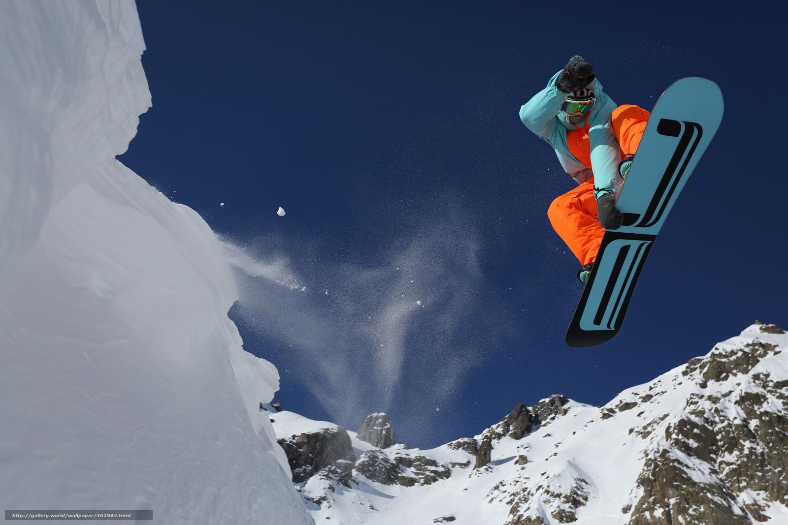 Tlcharger Fond d'ecran sauter,  neige,  snowboard Fonds d'ecran gratuits pour votre rsolution du bureau 5760x3840 — image №402964