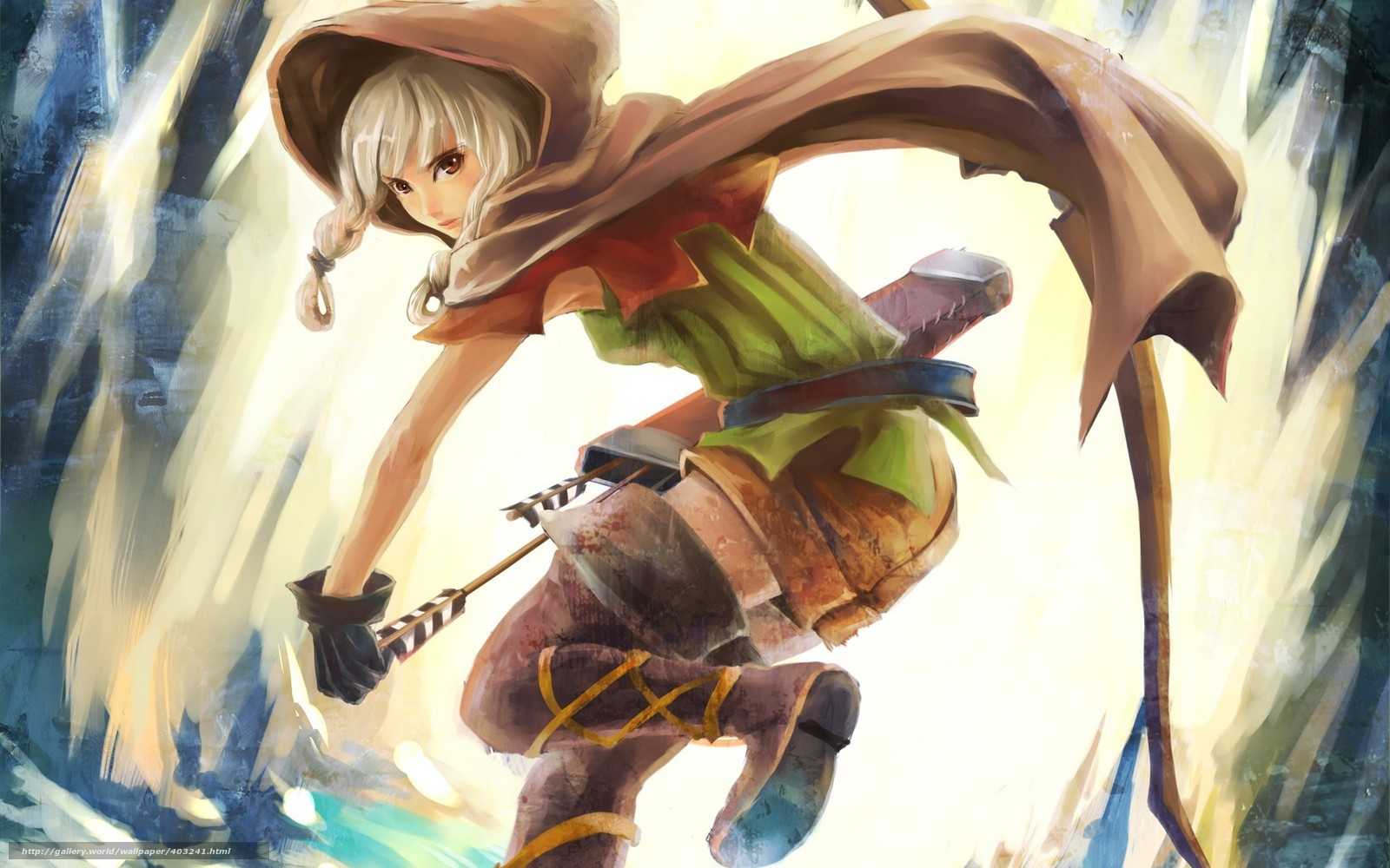 Девушка аниме с луком 4