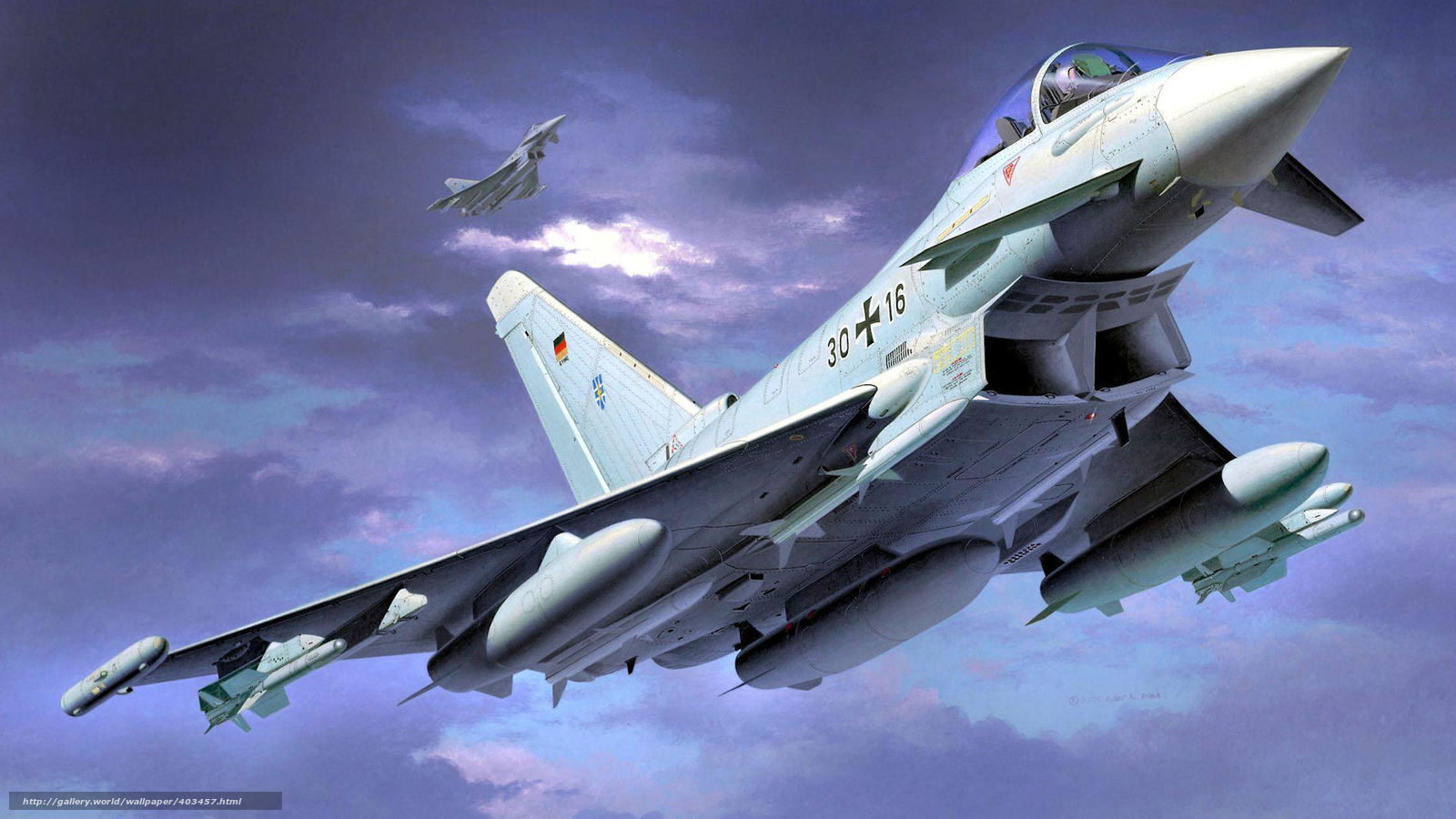 Скачать обои истребители,  Тайфун,  пара,  немцы бесплатно для рабочего стола в разрешении 1920x1080 — картинка №403457