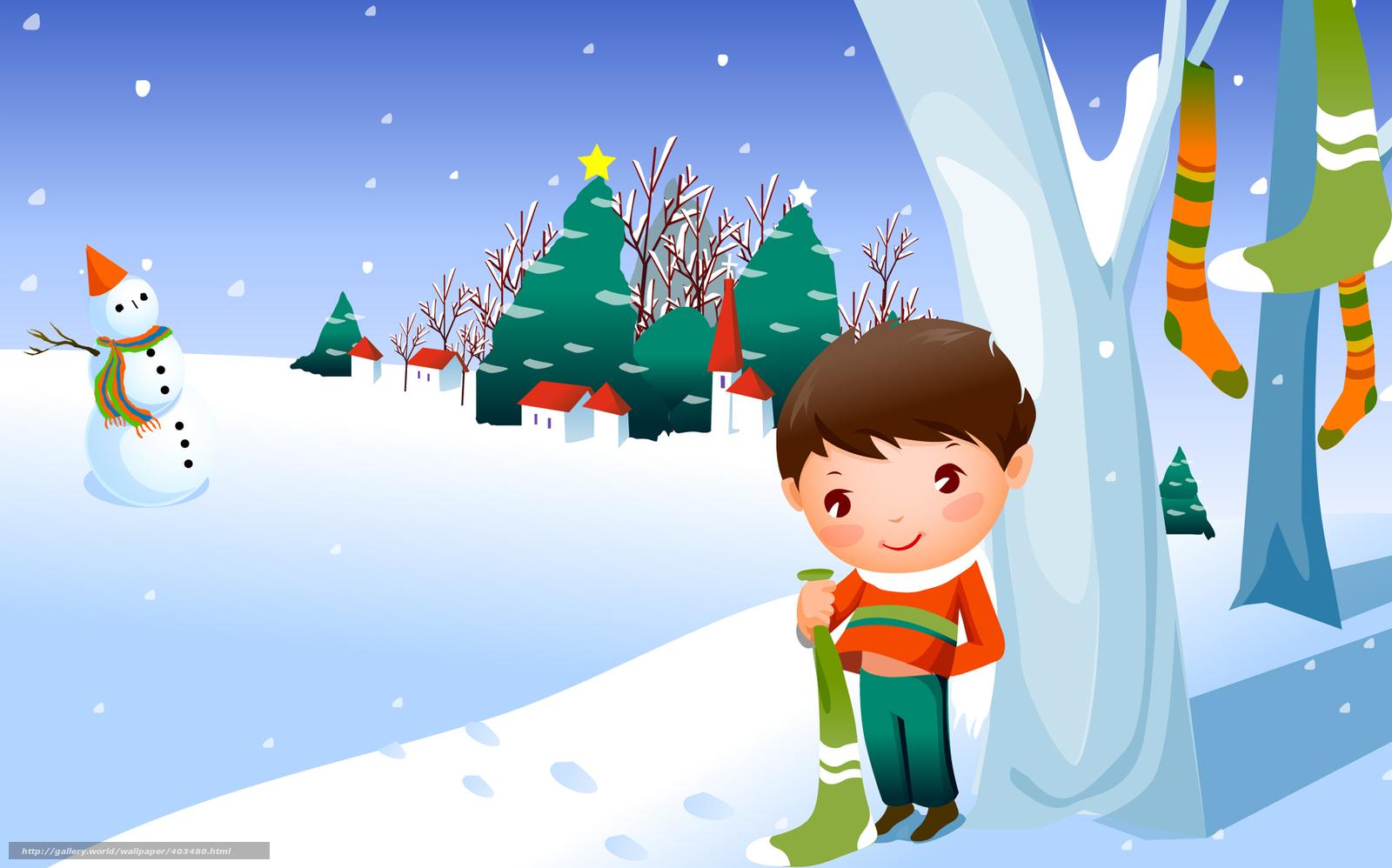 Tlcharger Fond d'ecran Enfants papier peint, hiver, neige, garon Fonds d'ecran gratuits pour ...
