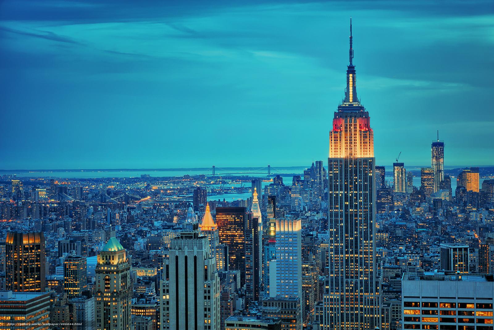 Tlcharger Fond Decran Ville New Yorkais New York Nuit