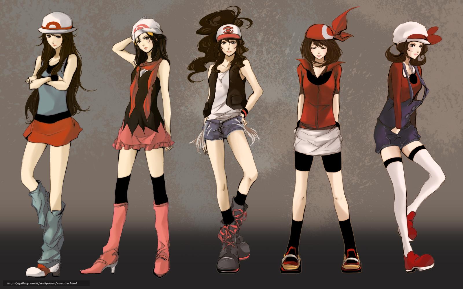 Tlcharger Fond D Ecran Anime Fille Pokemon Style Fonds