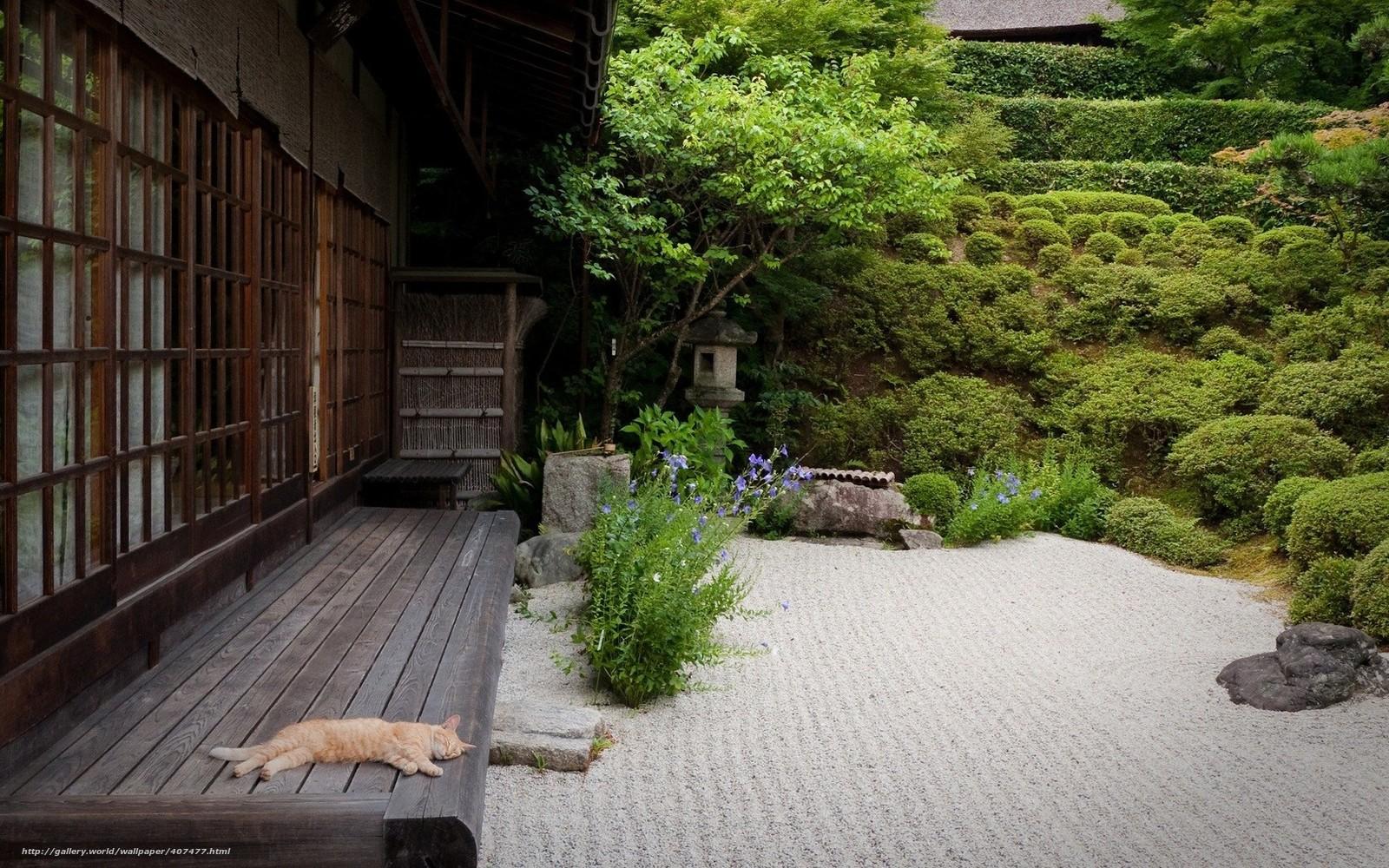 tlcharger fond d 39 ecran japon maison jardin patio fonds. Black Bedroom Furniture Sets. Home Design Ideas