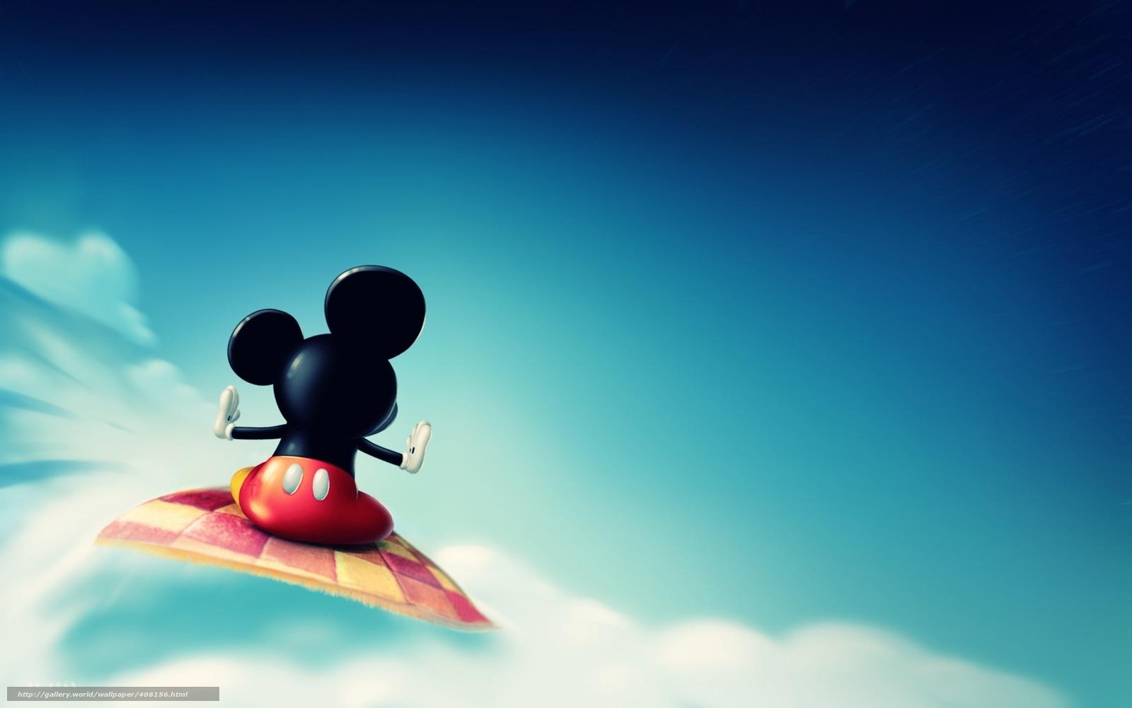 Download Hintergrund Wolke, Mickey Mouse, Flug. Freie ...