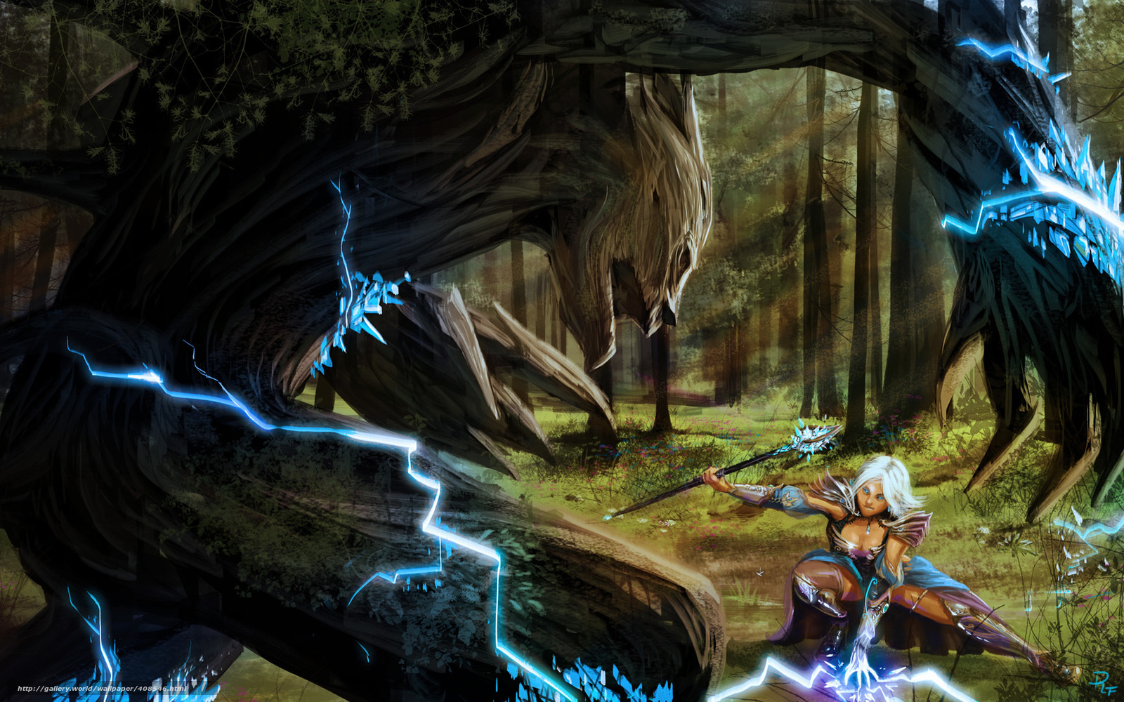 Download wallpaper Art,  battle,  girl,  enchantress free desktop wallpaper in the resolution 1680x1050 — picture №408546