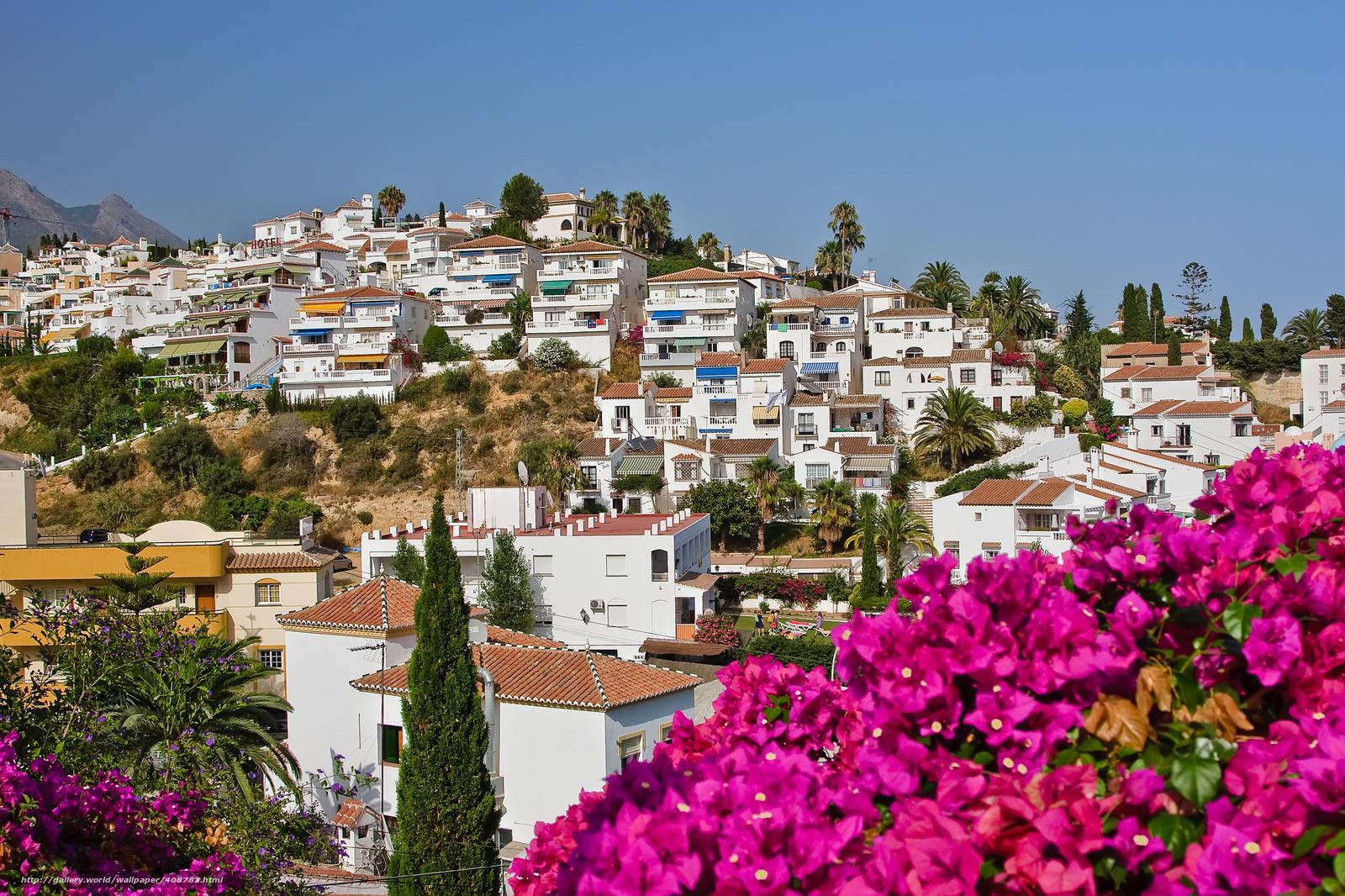 壁紙をダウンロード スペインの風景 ネルハ スペイン フラワーズ デスクトップの解像度のための無料壁紙 3794x2528 絵 4087