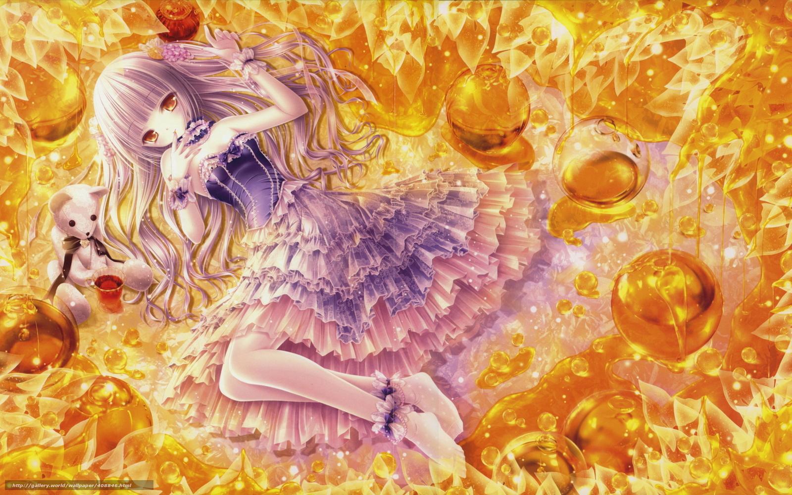 壁紙をダウンロード 日本製アニメ 芸術 女の子 蜂蜜 デスクトップの解像度のための無料壁紙 1680x1050 絵 408846