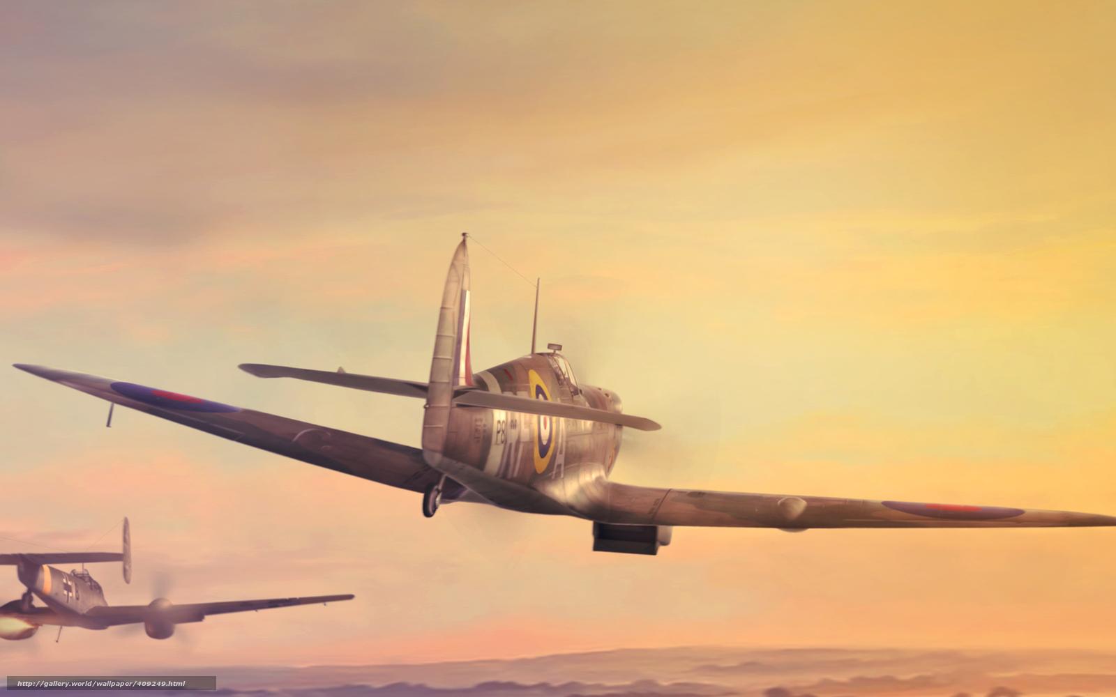 Скачать обои арт,  самолёты,  авиация,  Вторая мировая война бесплатно для рабочего стола в разрешении 1680x1050 — картинка №409249