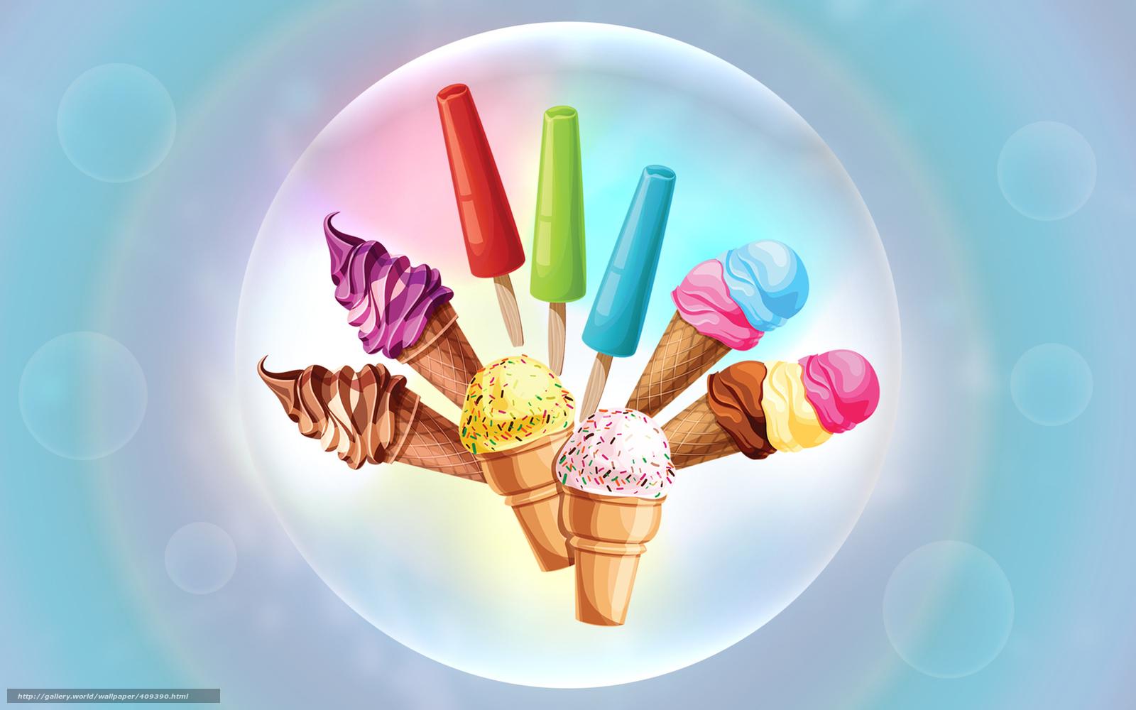 Download Wallpaper Ice Cream, Cream, Cream, Horn Free