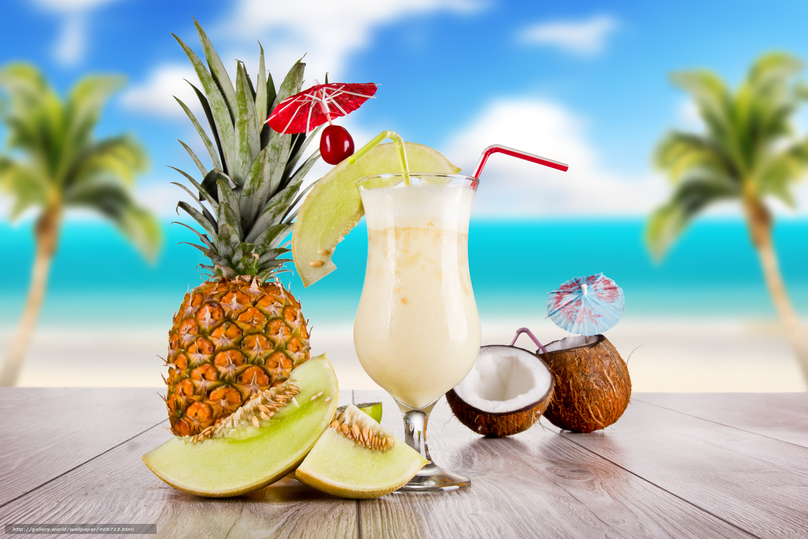Tlcharger fond d 39 ecran cocktail verre vin noix de coco for Fond ecran ananas