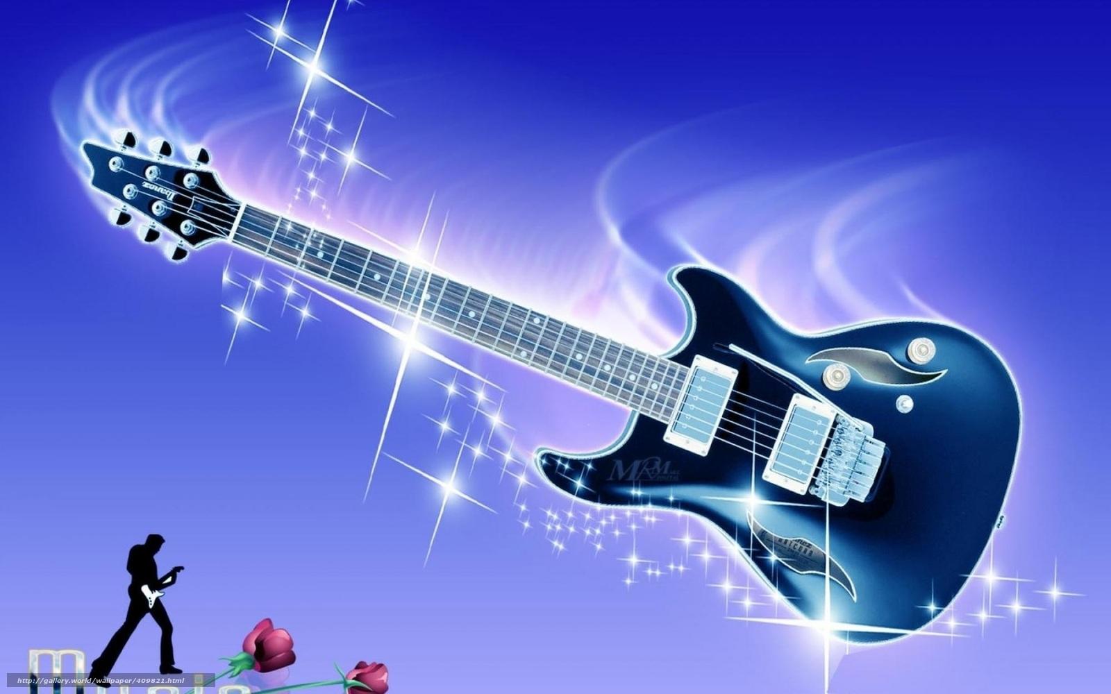 Tlcharger Fond d'ecran guitare, guitare lectrique, Fleurs, flash Fonds d'ecran gratuits pour ...