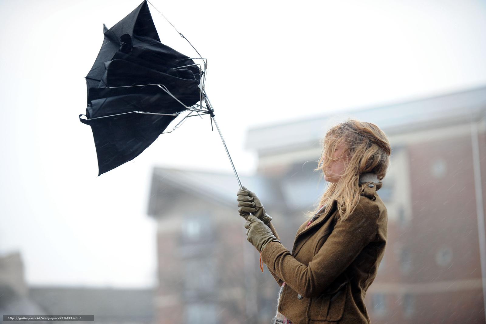 Download Hintergrund Stadt,  Mdchen,  Wind,  Regenschirm Freie desktop Tapeten in der Auflosung 4104x2736 — bild №410433
