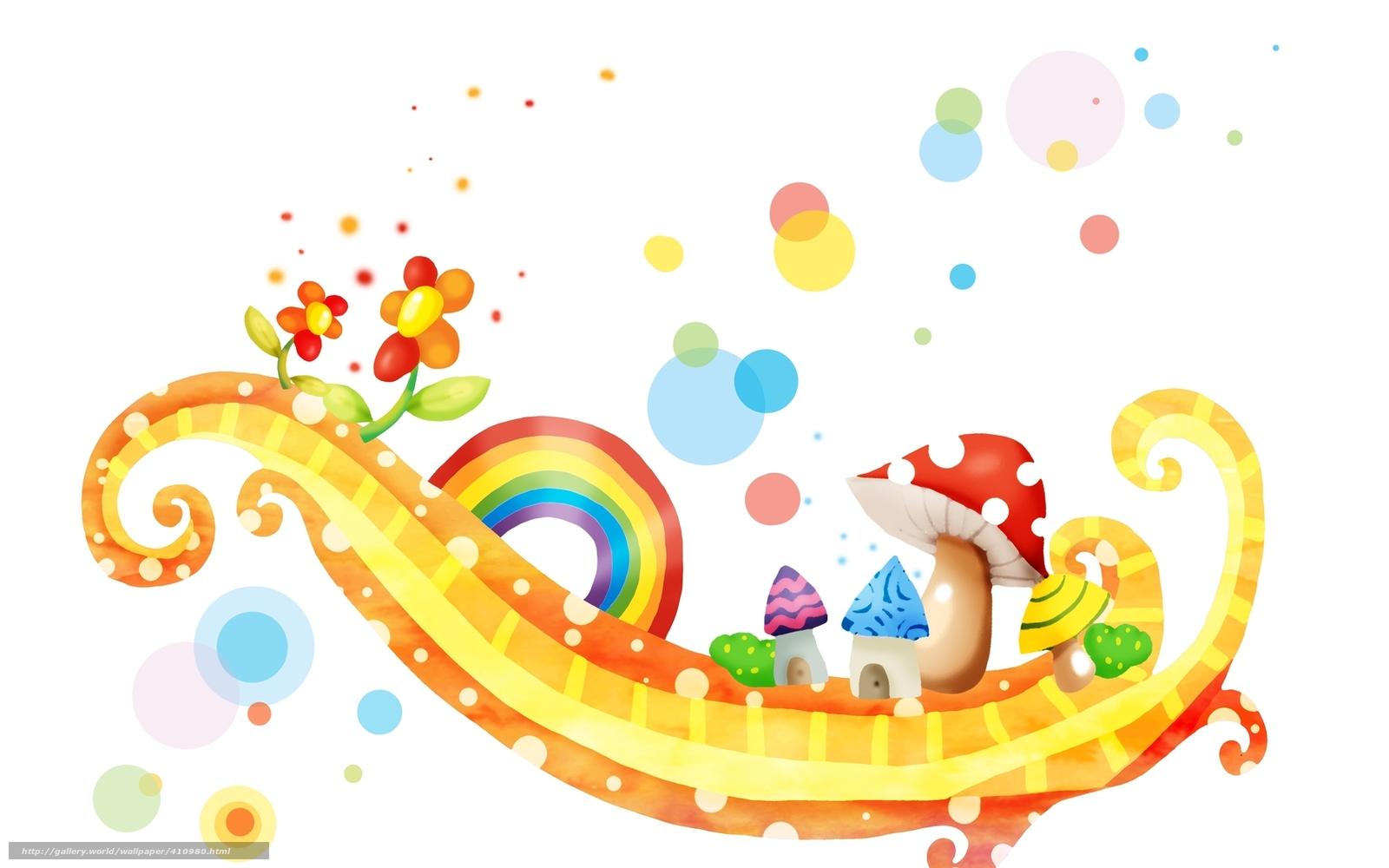 Tlcharger fond d 39 ecran enfants papier peint champignons for Papier peint pour bureau gratuit