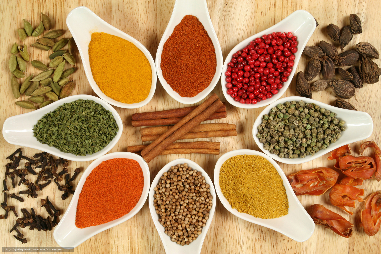 Download wallpaper table,  bowls,  spices,  curry free desktop wallpaper in the resolution 7500x5000 — picture №411166