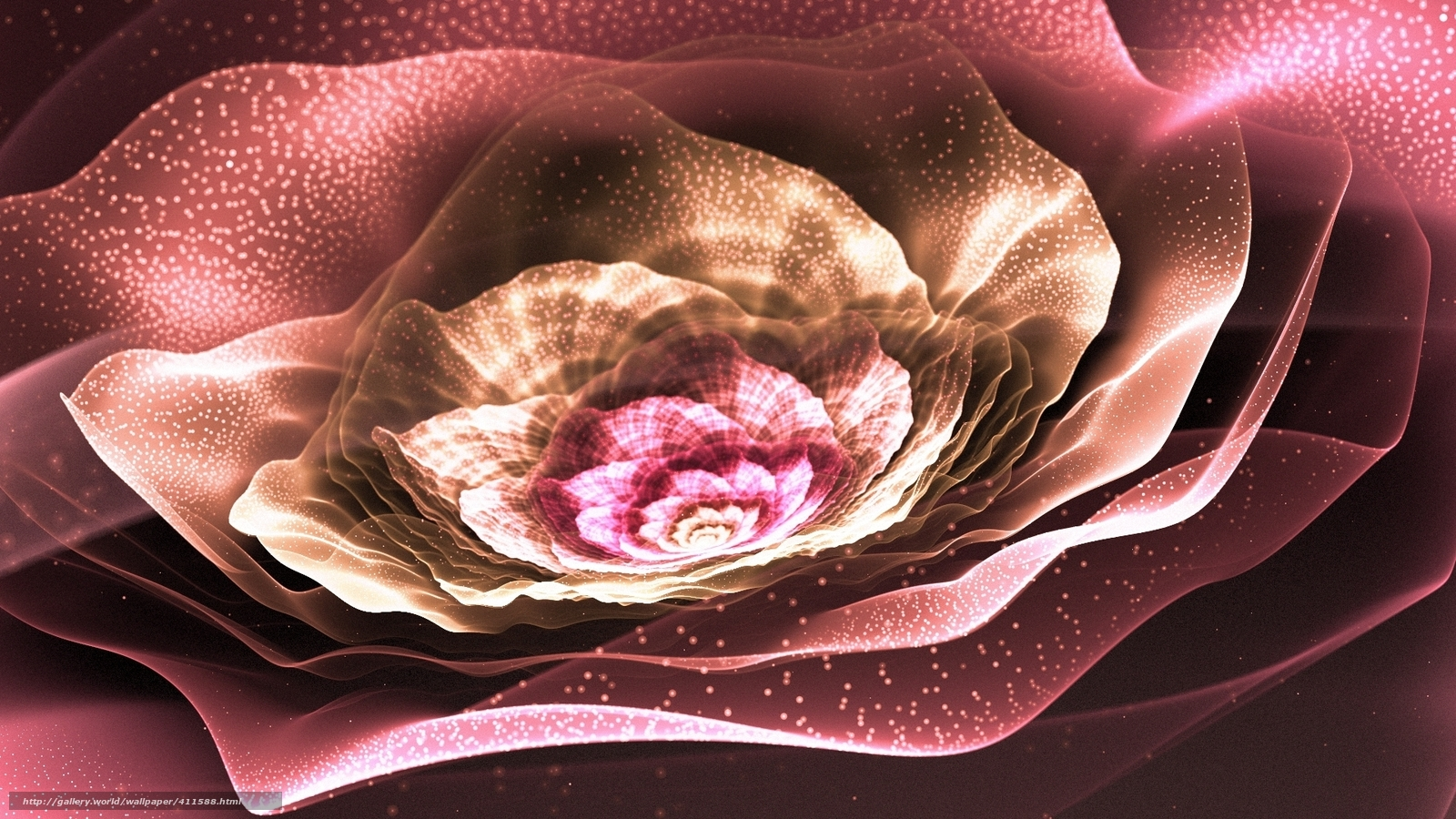 Download wallpaper Art,  fractal,  flower,  Petals free desktop wallpaper in the resolution 1920x1080 — picture №411588