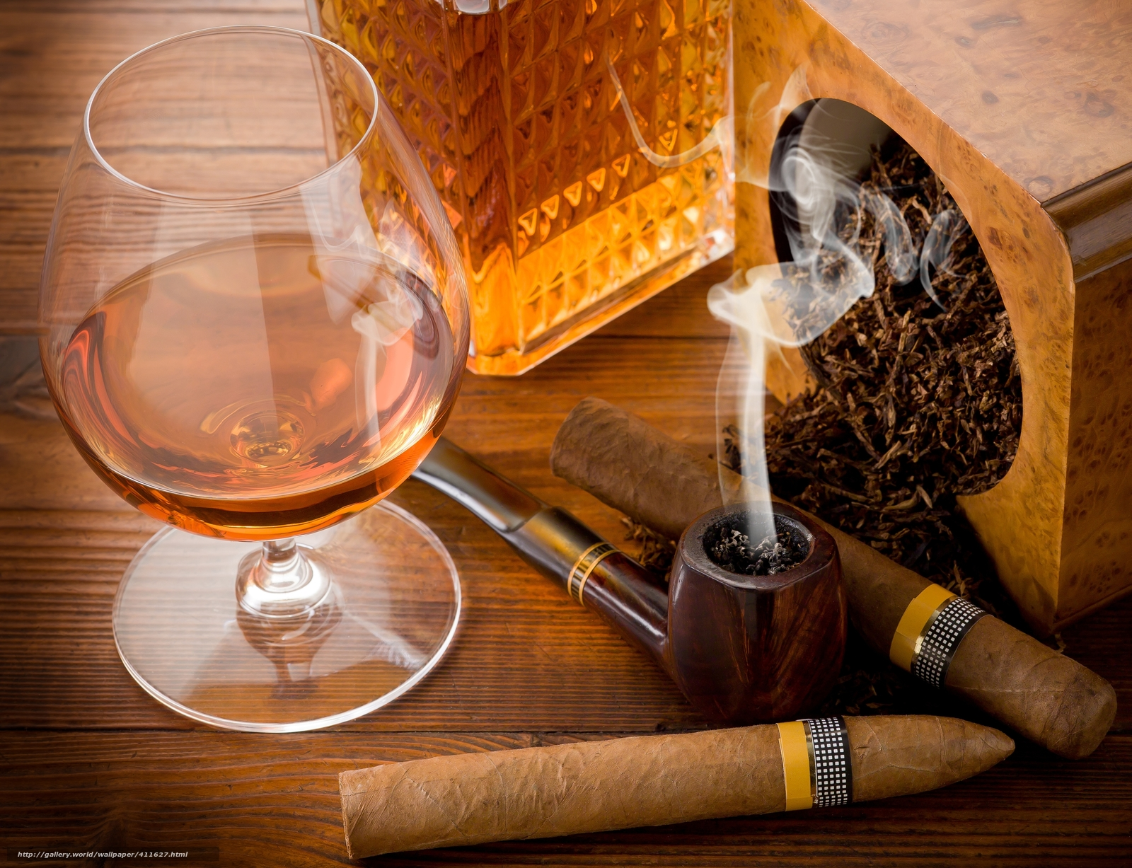 Download wallpaper table,  goblet,  Brandy,  tobacco free desktop wallpaper in the resolution 5500x4218 — picture №411627