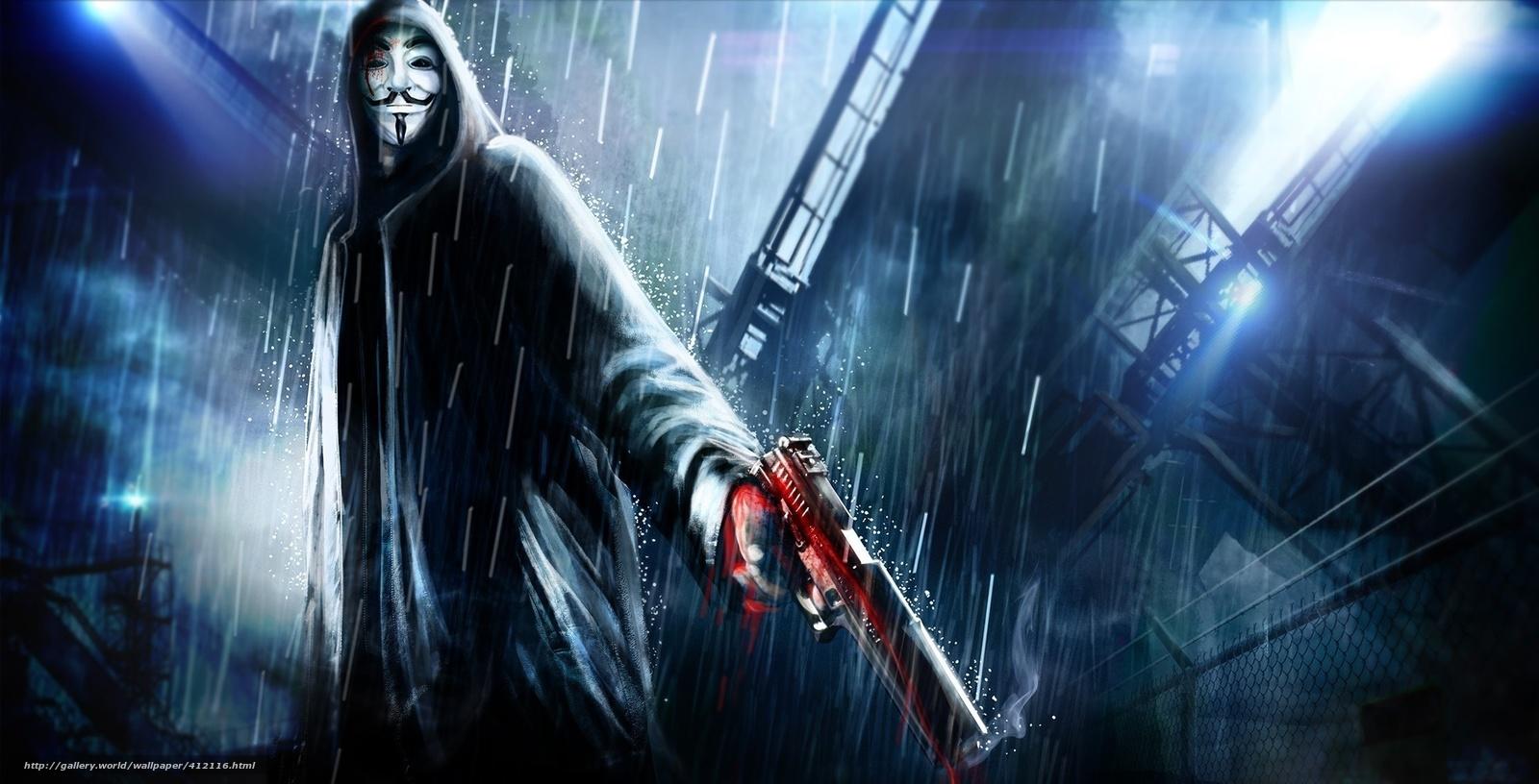 Descargar gratis V de Vendetta,  pelcula,  Arte,  imagen Fondos de escritorio en la resolucin 2319x1183 — imagen №412116