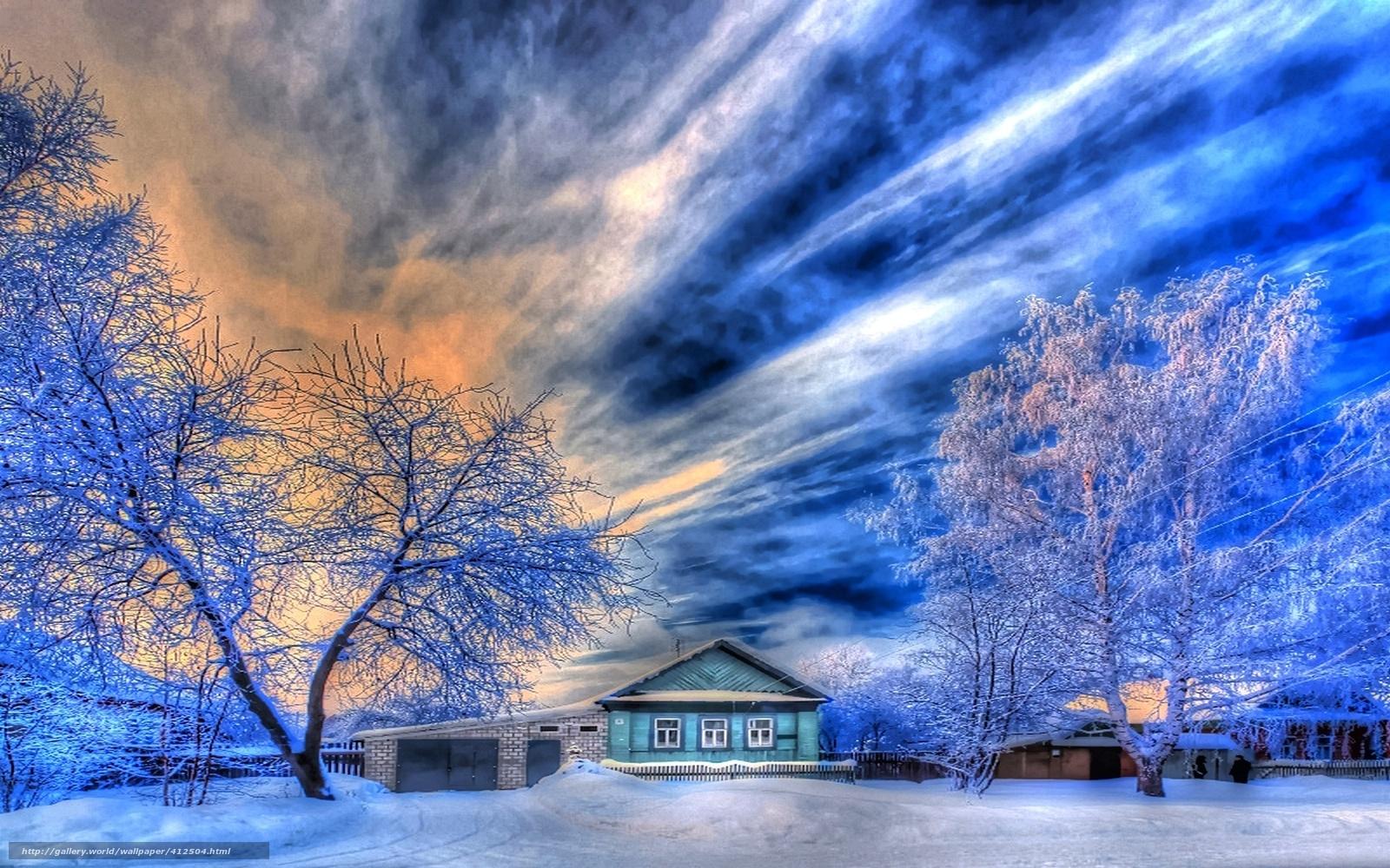Tlcharger fond d 39 ecran nature hiver russe village fonds for Fond ecran gratuit hiver