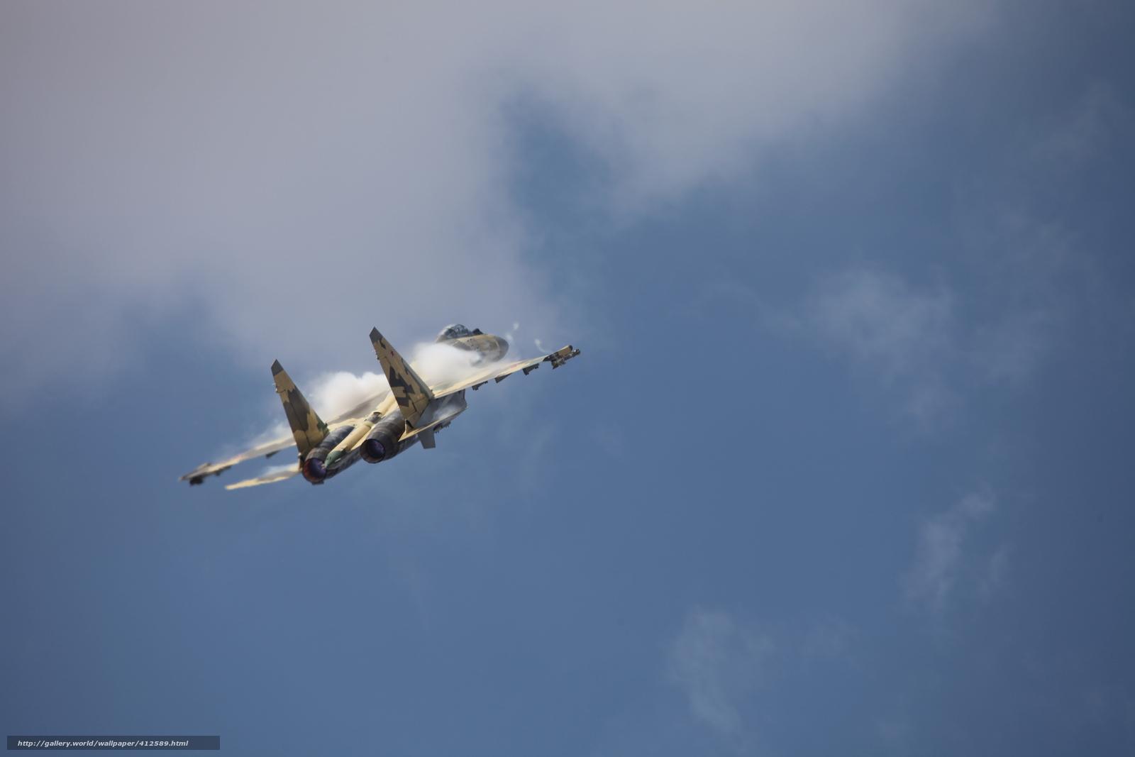 Скачать обои самолёт,  су,  небо,  пилотаж бесплатно для рабочего стола в разрешении 5616x3744 — картинка №412589