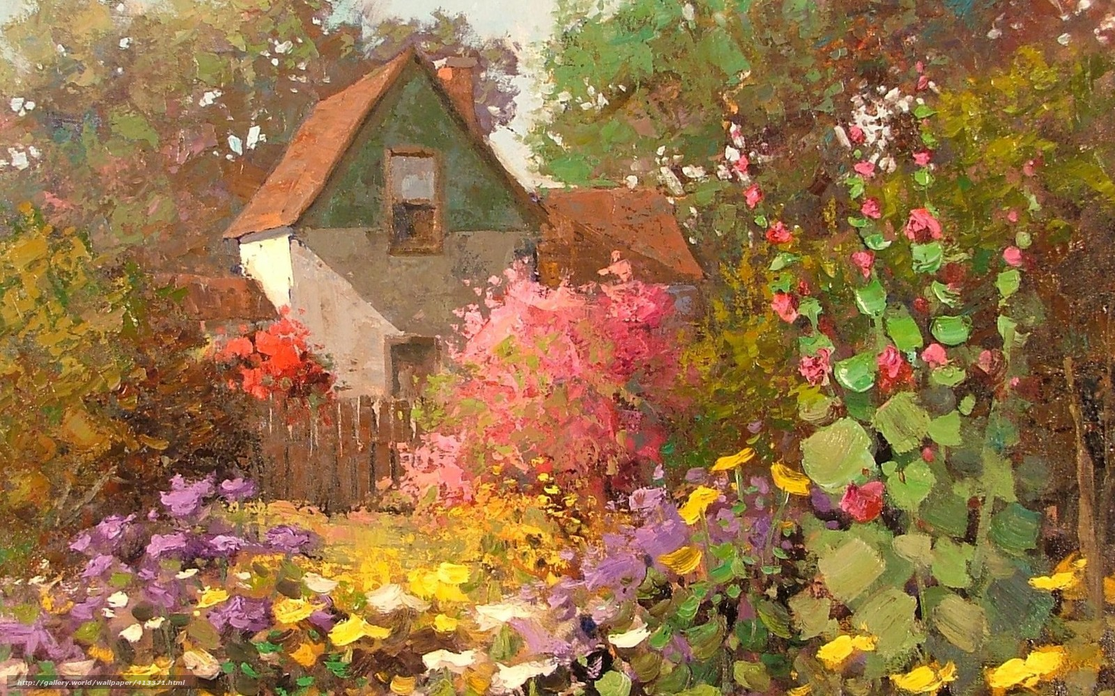 Tlcharger fond d 39 ecran art maison fleurs jardin fonds d for Jardin japonais fond d ecran
