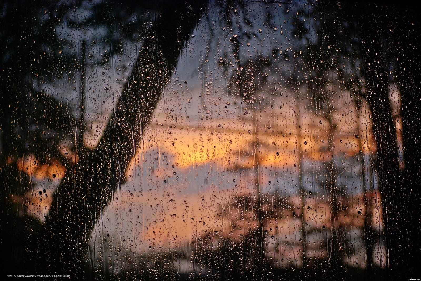 Обои дождь на рабочий стол 1920х1080
