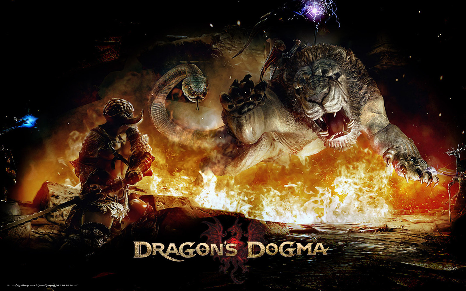 Download Wallpaper Game Warrior Lion Snake Free Desktop