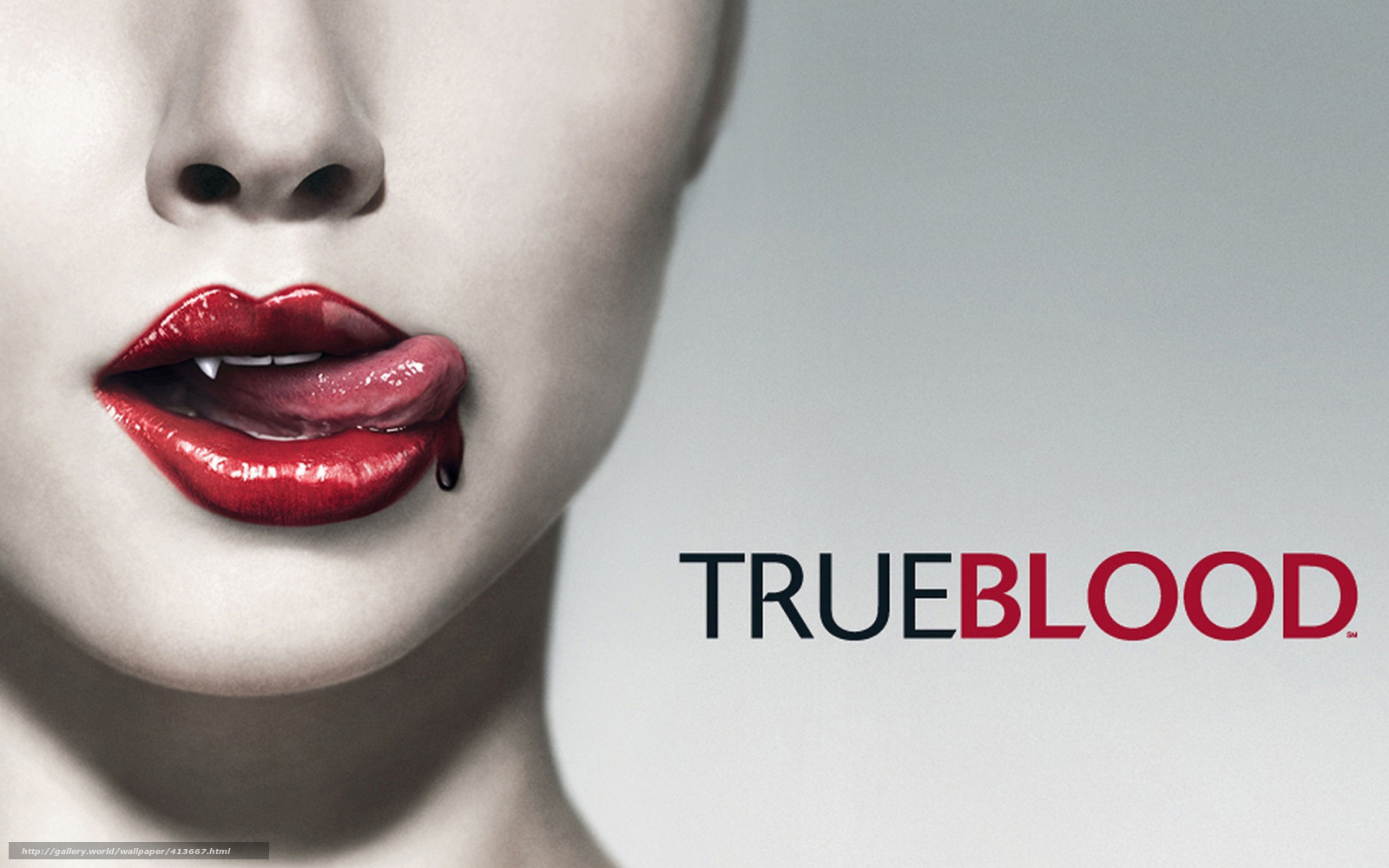 Download wallpaper True Blood,  Vampires,  blood free desktop wallpaper in the resolution 1680x1050 — picture №413667