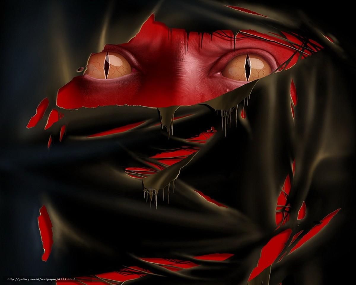 Скачать обои глаза,  ткань,  красный бесплатно для рабочего стола в разрешении 1280x1024 — картинка №4139