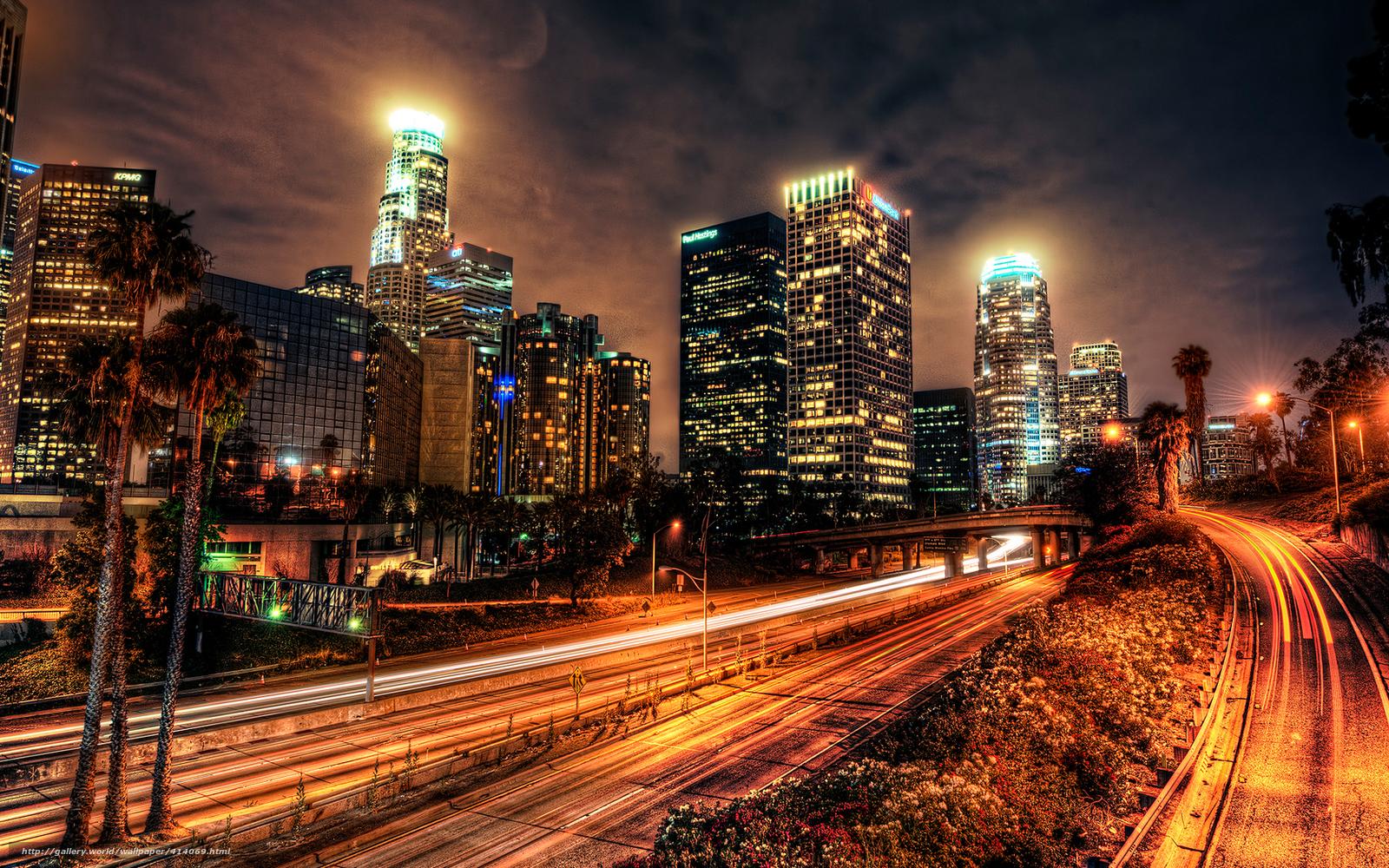 Download Hintergrund Stadt Los Angeles Usa Nacht Freie