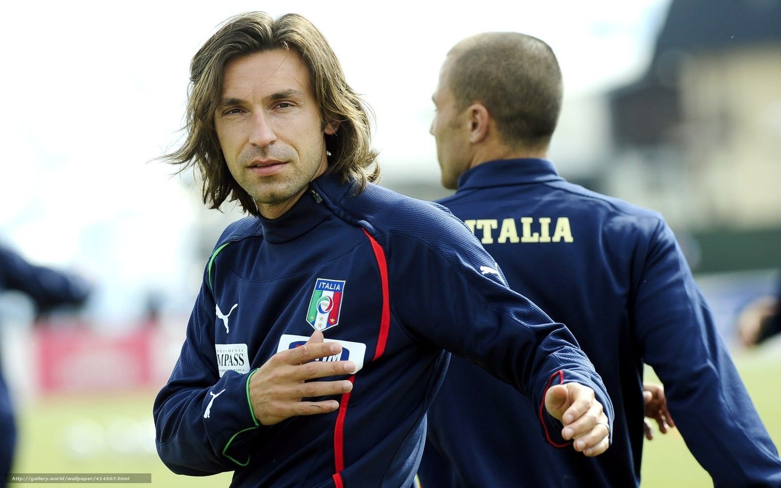 Download wallpaper Andrea Pirlo,  Italy,  footballer,  training free desktop wallpaper in the resolution 1680x1050 — picture №414507