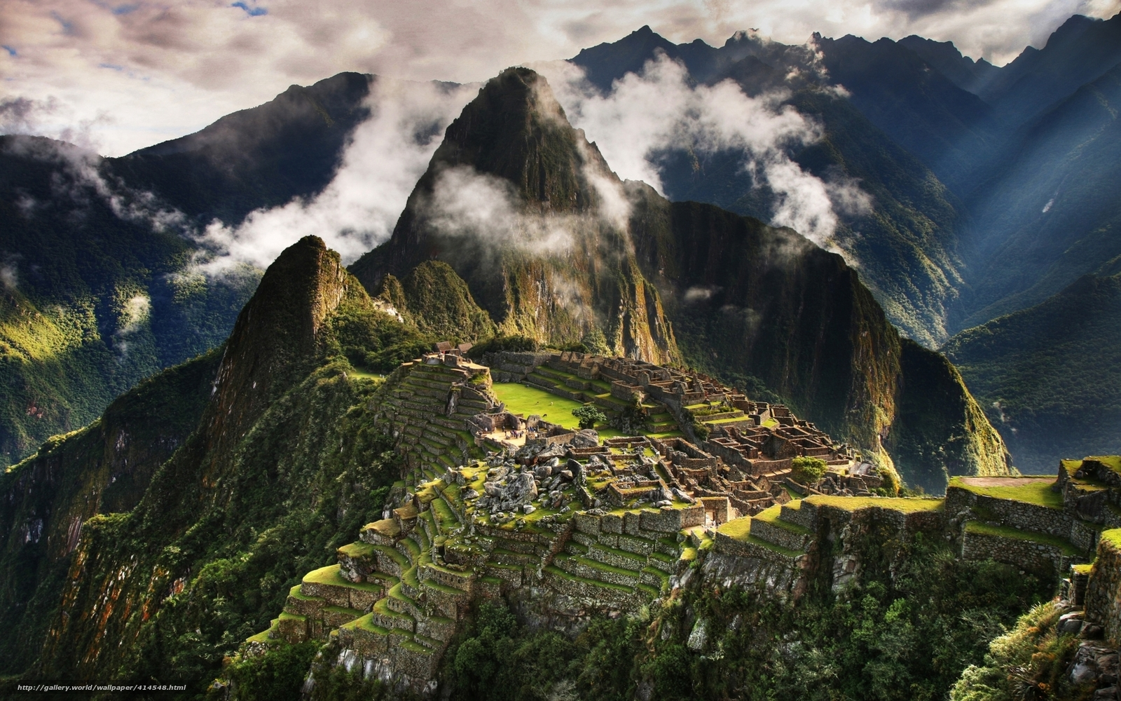 Download wallpaper Peru,  Machu Picchu,  City of the Incas,  ancient civilizations free desktop wallpaper in the resolution 1680x1050 — picture №414548