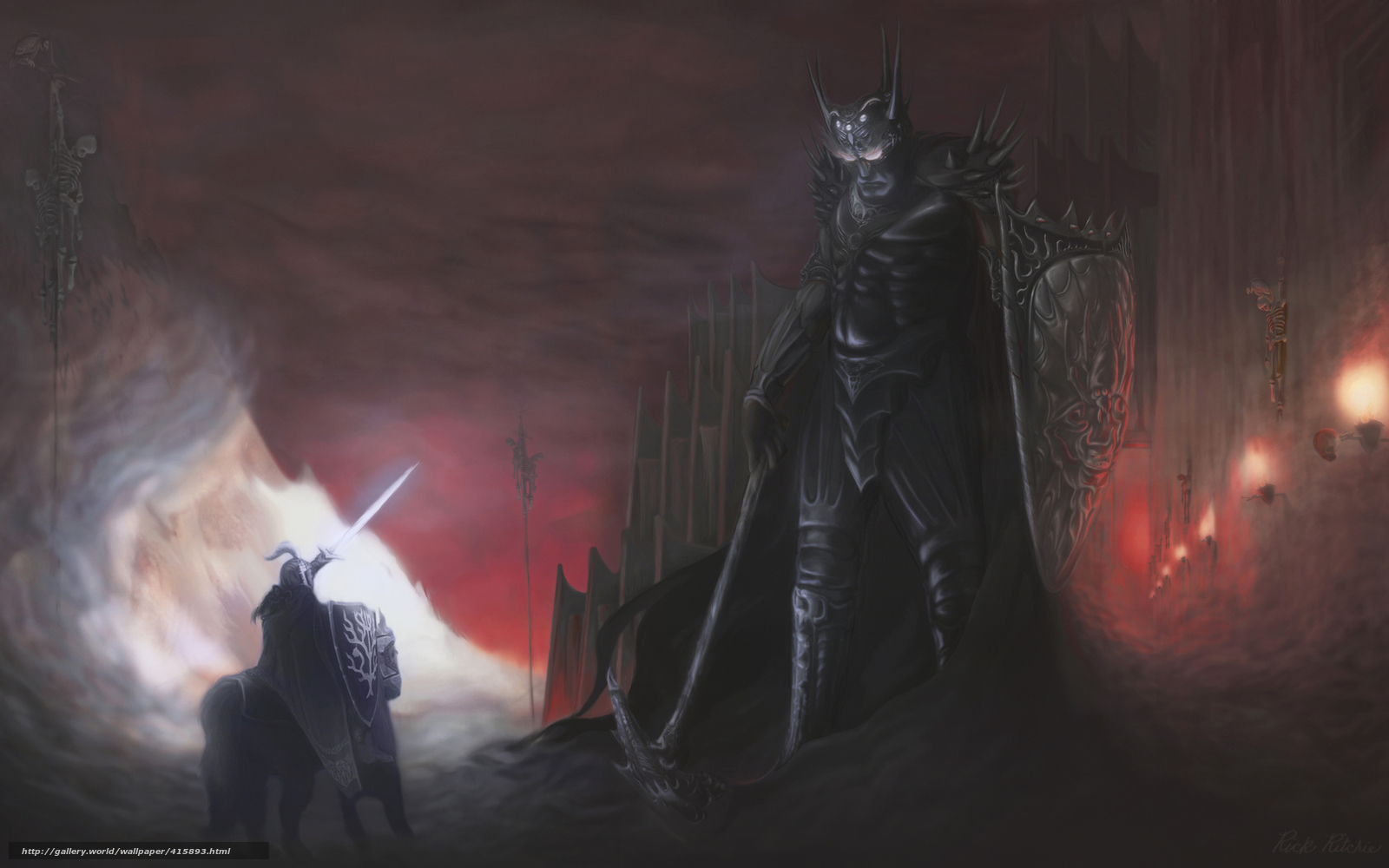 Download wallpaper knight,  giant,  armor,  weapon free desktop wallpaper in the resolution 1680x1050 — picture №415893