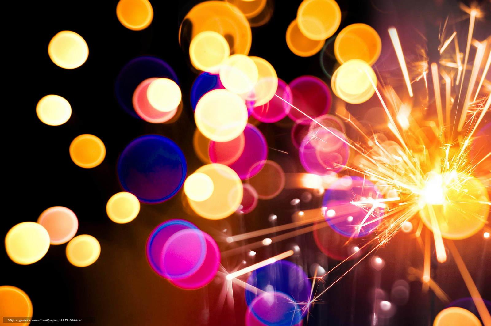 Descargar gratis bokeh,  sparklers,  Sparks Fondos de escritorio en la resolucin 4512x3000 — imagen №417248