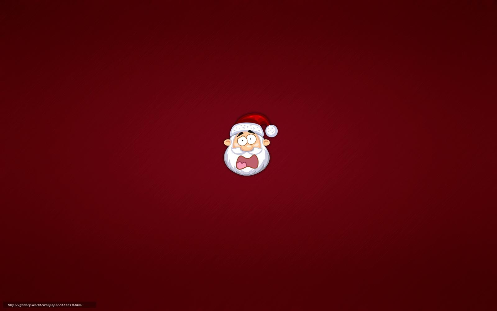 Скачать обои дед мороз,  санта клаус,  новый год,  голова бесплатно для рабочего стола в разрешении 1680x1050 — картинка №417610