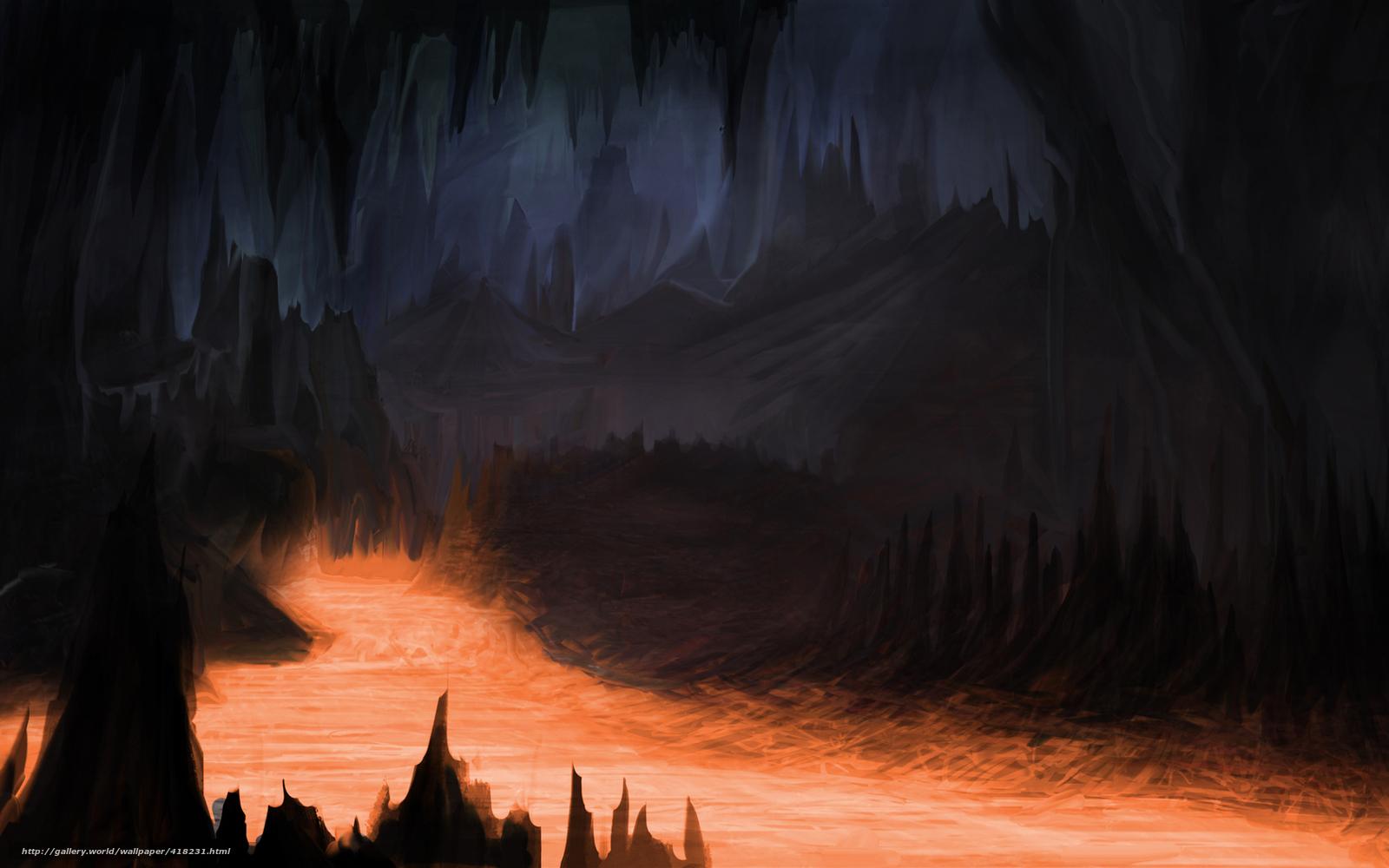 Download Hintergrund Kunst,  Hhle,  Lava,  dunkel Freie desktop Tapeten in der Auflosung 1680x1050 — bild №418231