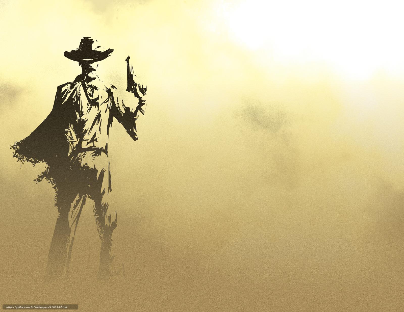 Скачать обои мужчина,  ковбой,  оружие,  фон бесплатно для рабочего стола в разрешении 3300x2550 — картинка №418314