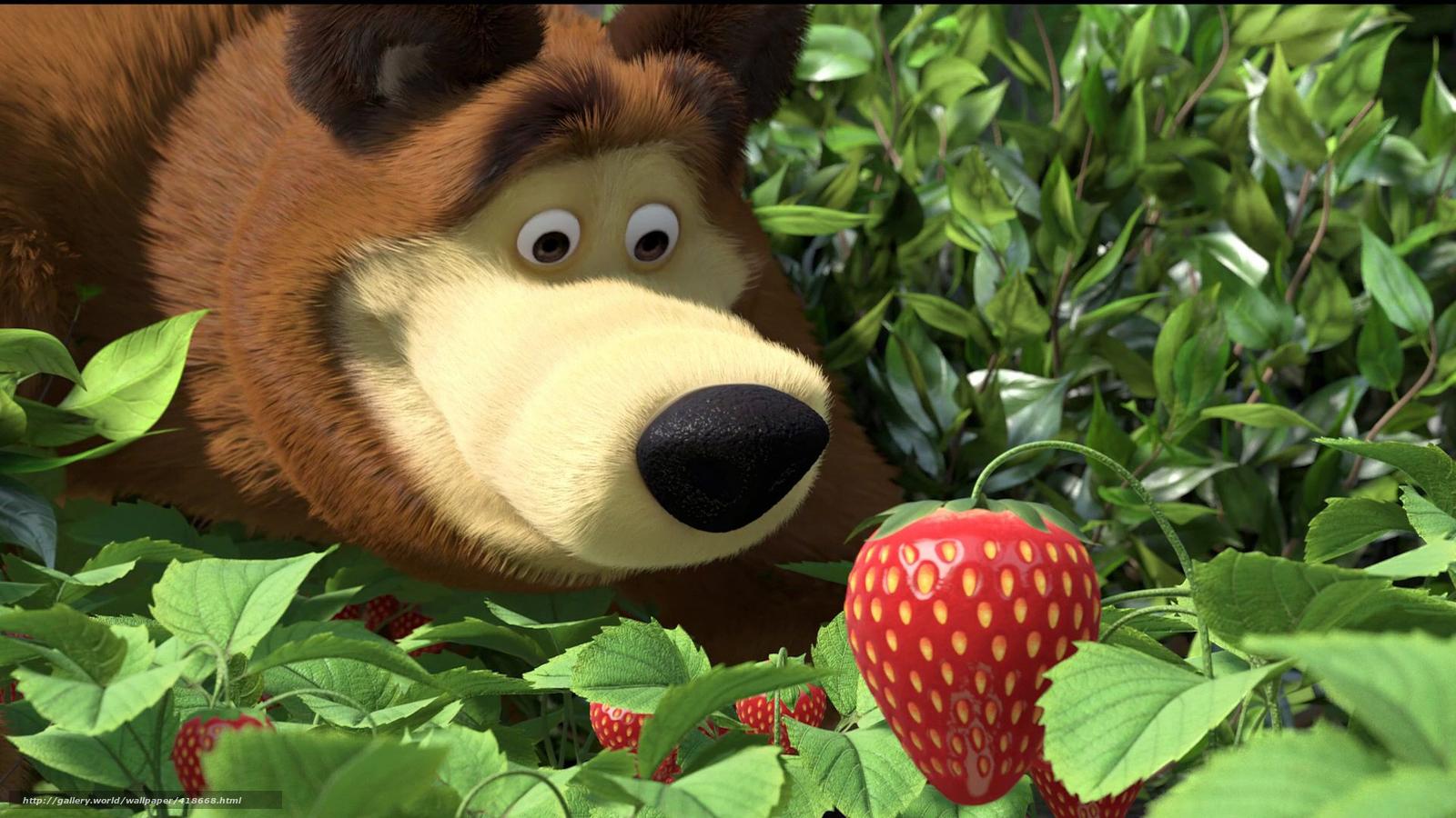 Scaricare gli sfondi masha e l orso cartone animato