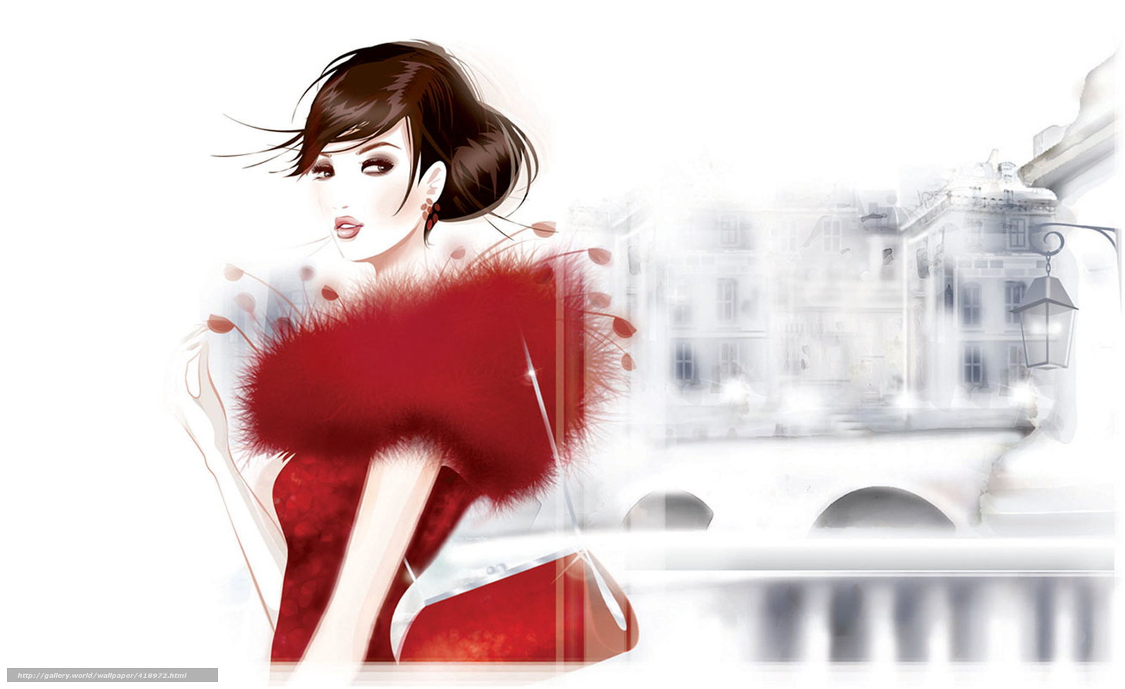 Download wallpaper girl,  handbag,  city,  lantern free desktop wallpaper in the resolution 1920x1176 — picture №418972