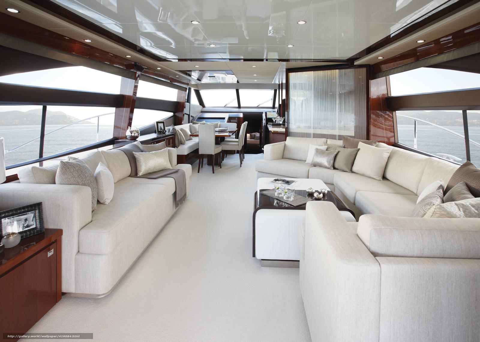 Yachten von innen  Download Hintergrund Innen-, Stil, Design, Yacht Freie desktop ...
