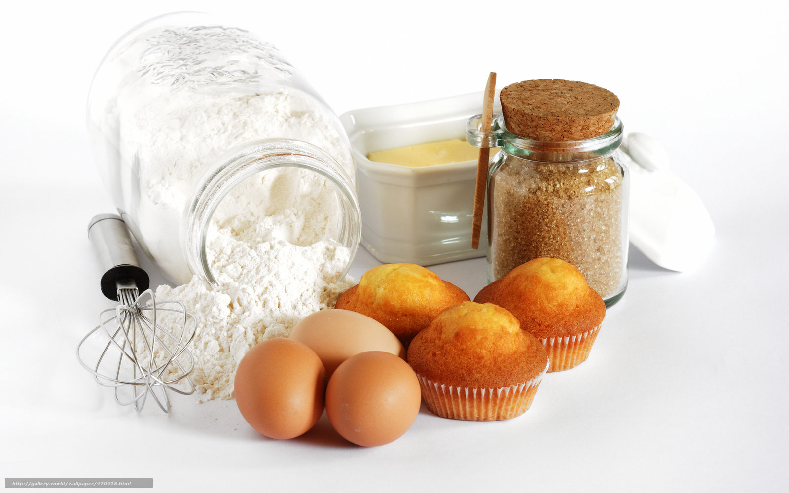 download wallpaper cupcakes, eggs, flour, bank free desktop