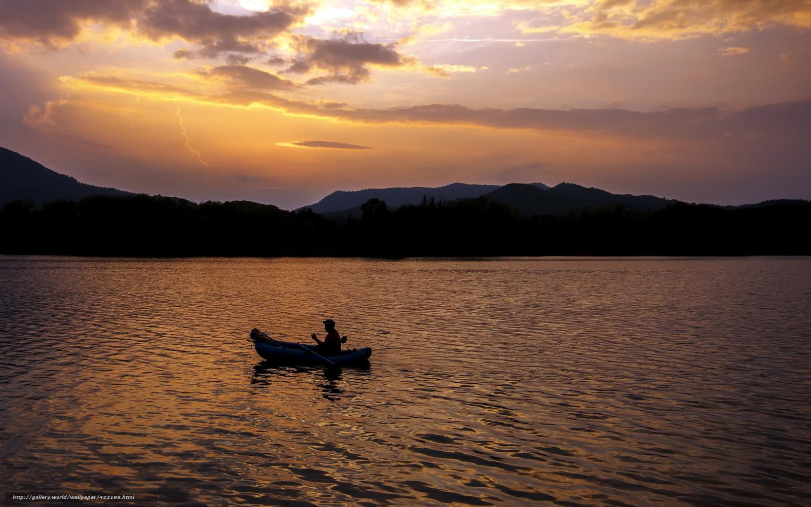 Tlcharger Fond d'ecran nuit,  lac,  bateau,  paysage Fonds d'ecran gratuits pour votre rsolution du bureau 1680x1050 — image №422198
