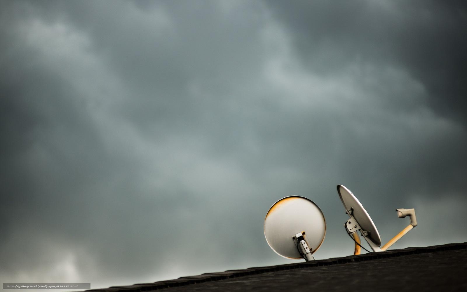Descargar gratis antenas parablicas,  techo,  Minimalismo Fondos de escritorio en la resolucin 1680x1050 — imagen №424716